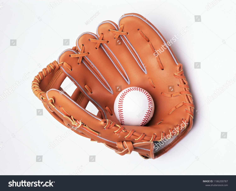 Baseball in glove #1186200787