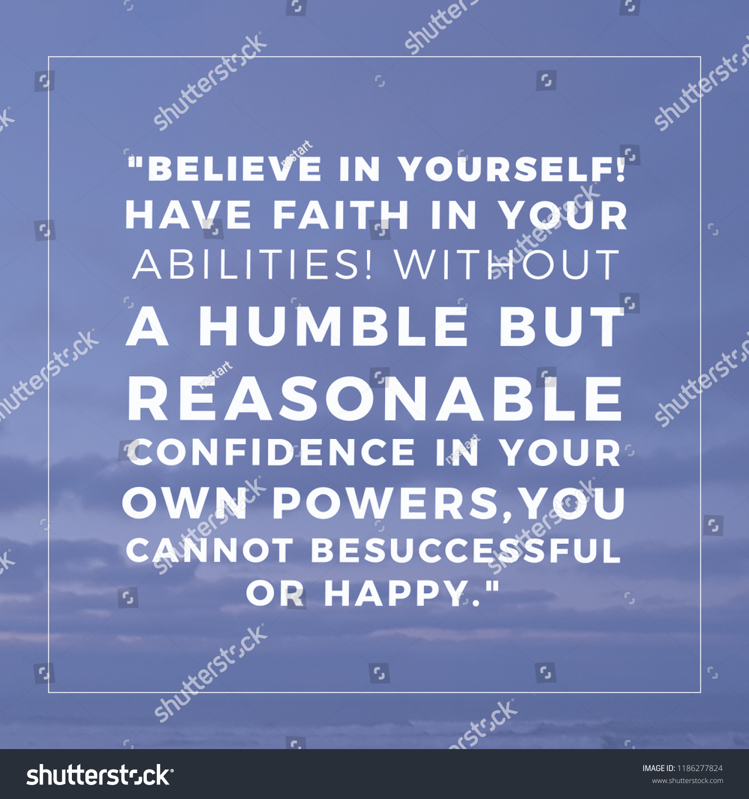 Inspirational Quotes About Success Workplace Believe Stock Photo