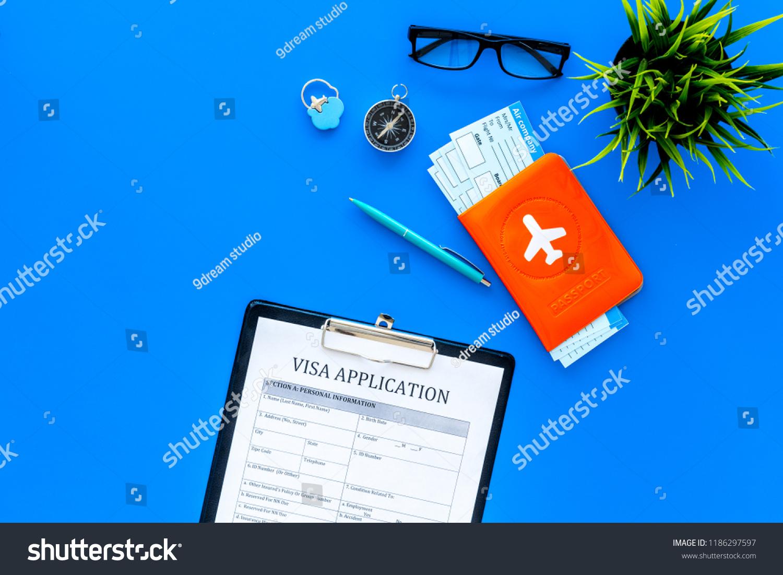 Preparing Travel Legalize Papers Visa Application Stock