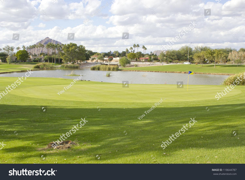 Continental Golf Club Field Pond Open Stock Photo 118644787 Shutterstock