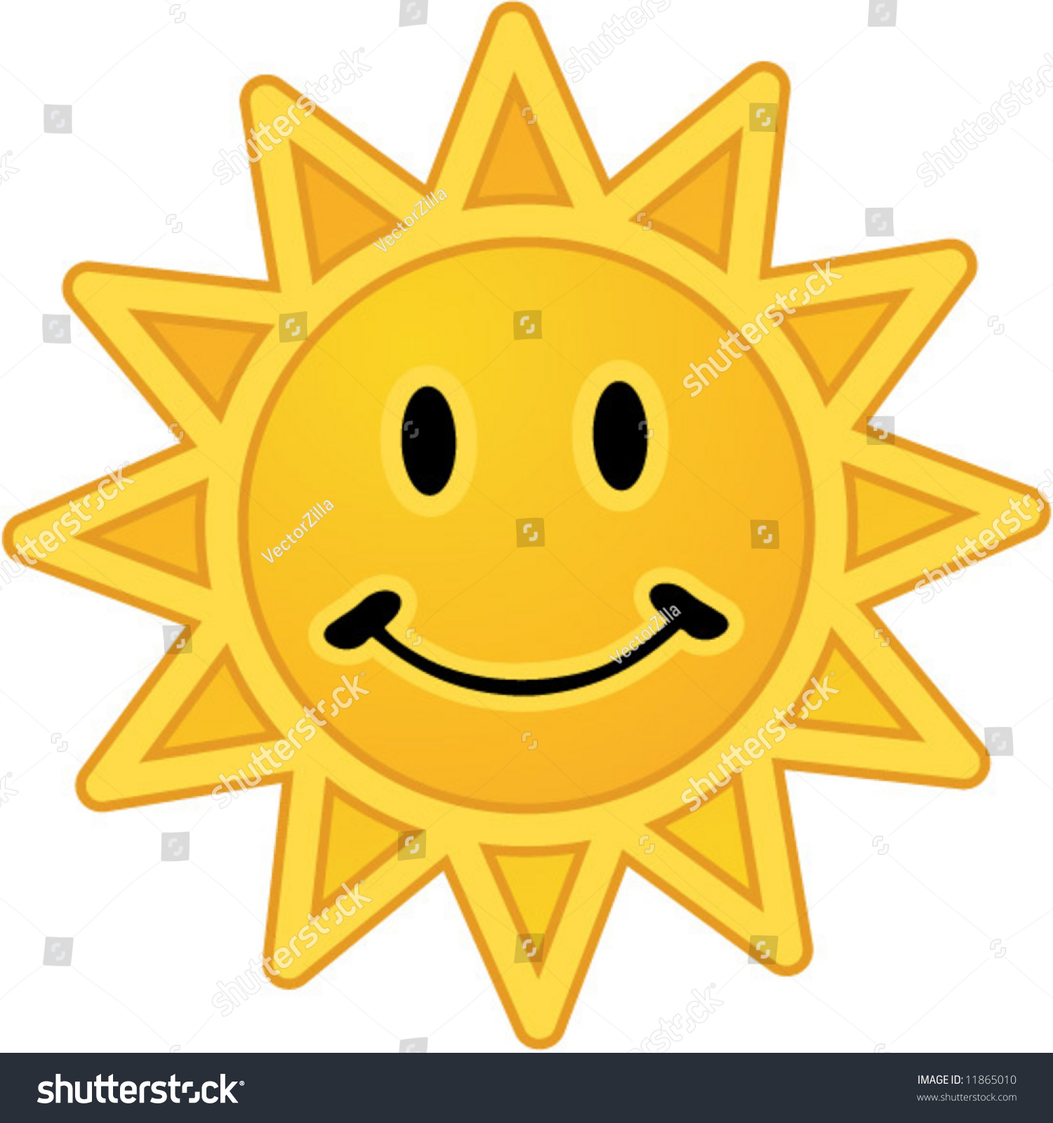 Smiling sun images - Vector Smiling Sun