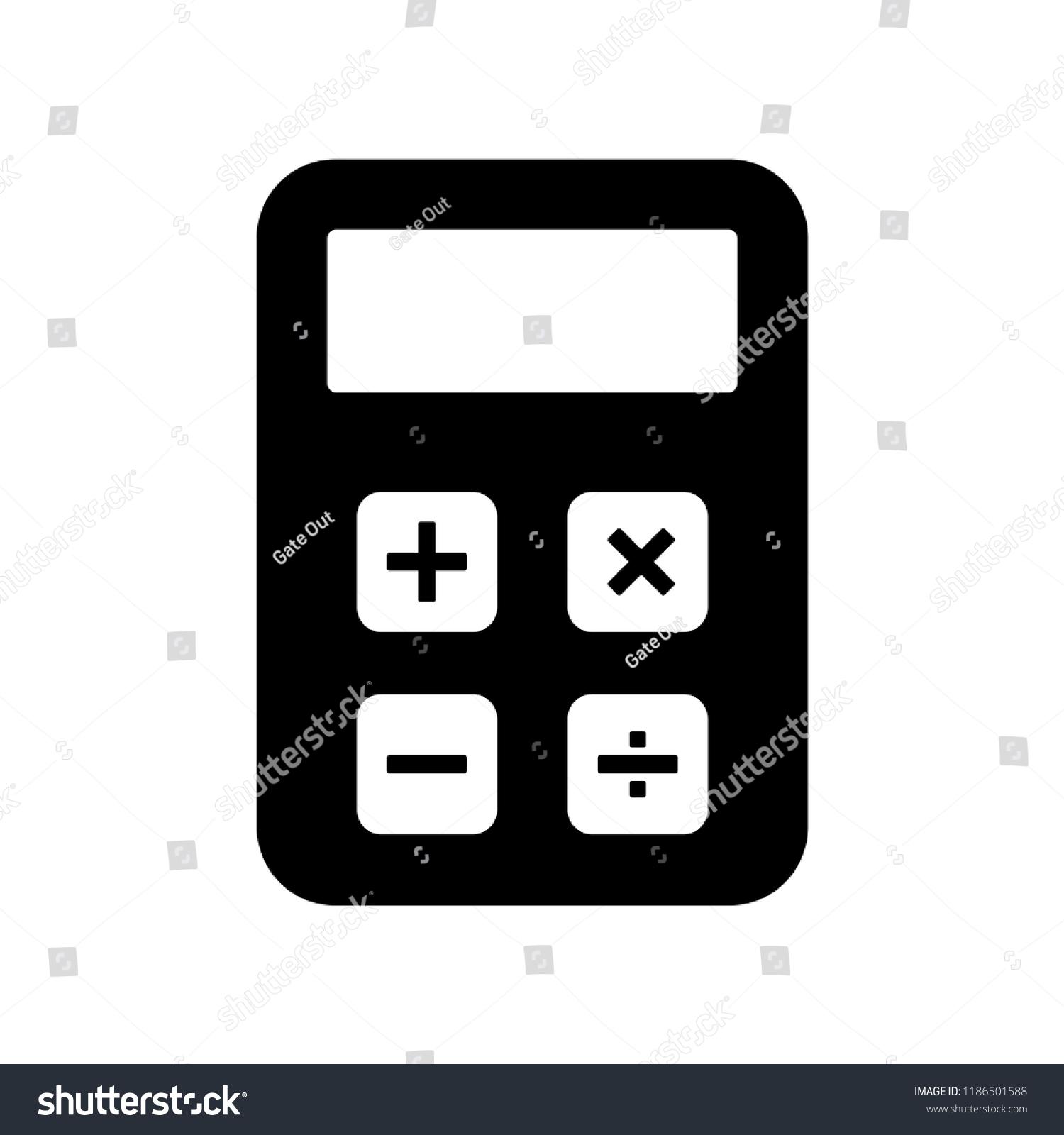 Calculator Icon Vector Logo Template Stock Vector (Royalty Free