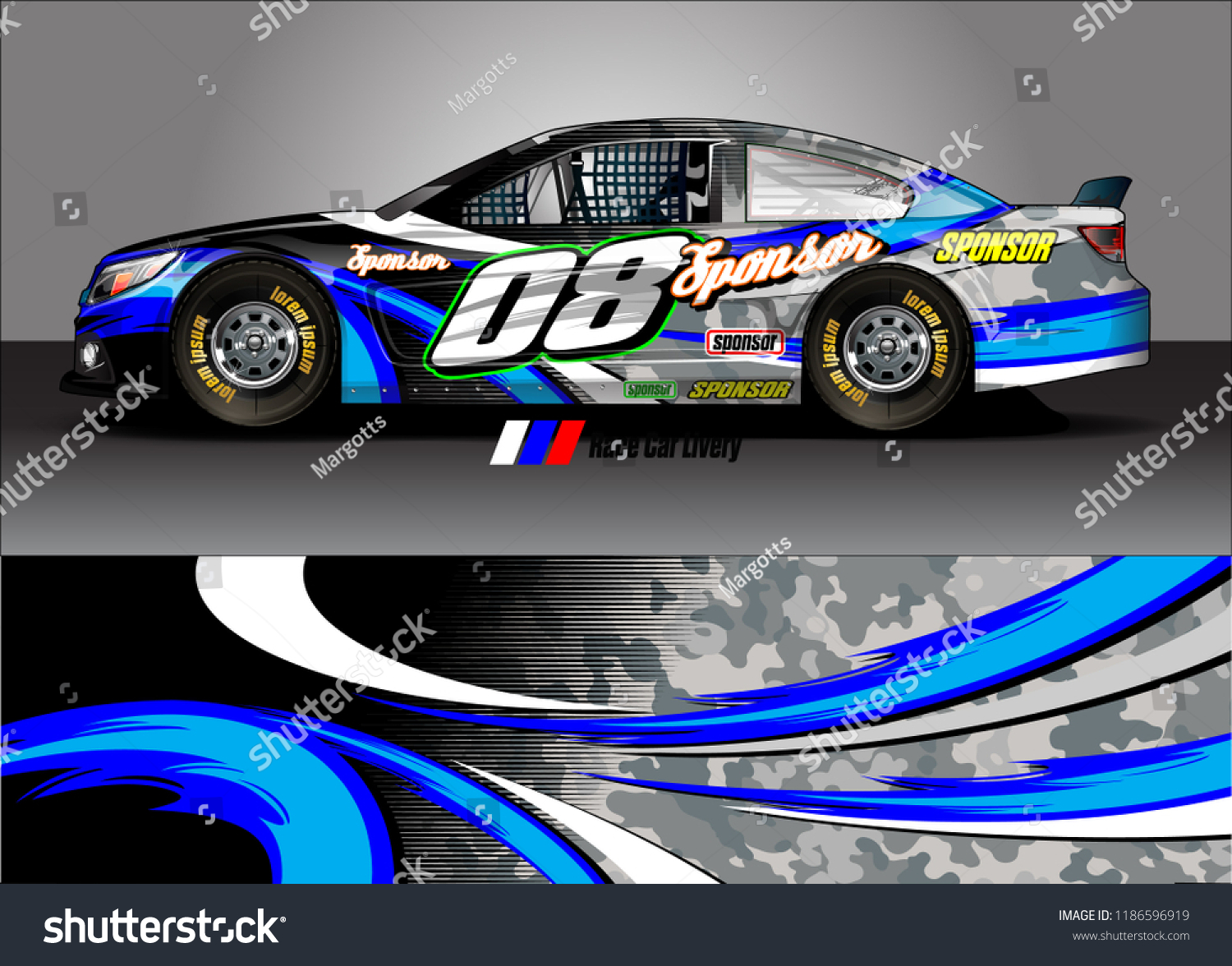 Car decal design vector abstract racing graphic stripe background kit for vehicle vinyl wrap