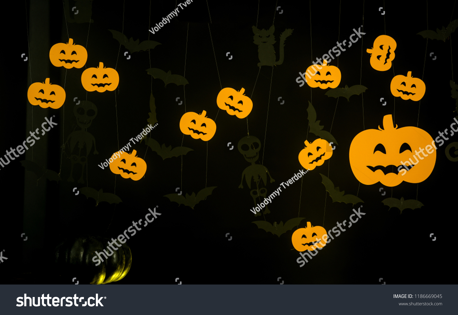 Stock photo halloween decoration and scary concept halloween background  october pumpkin head jack lantern jpg 1500x1033