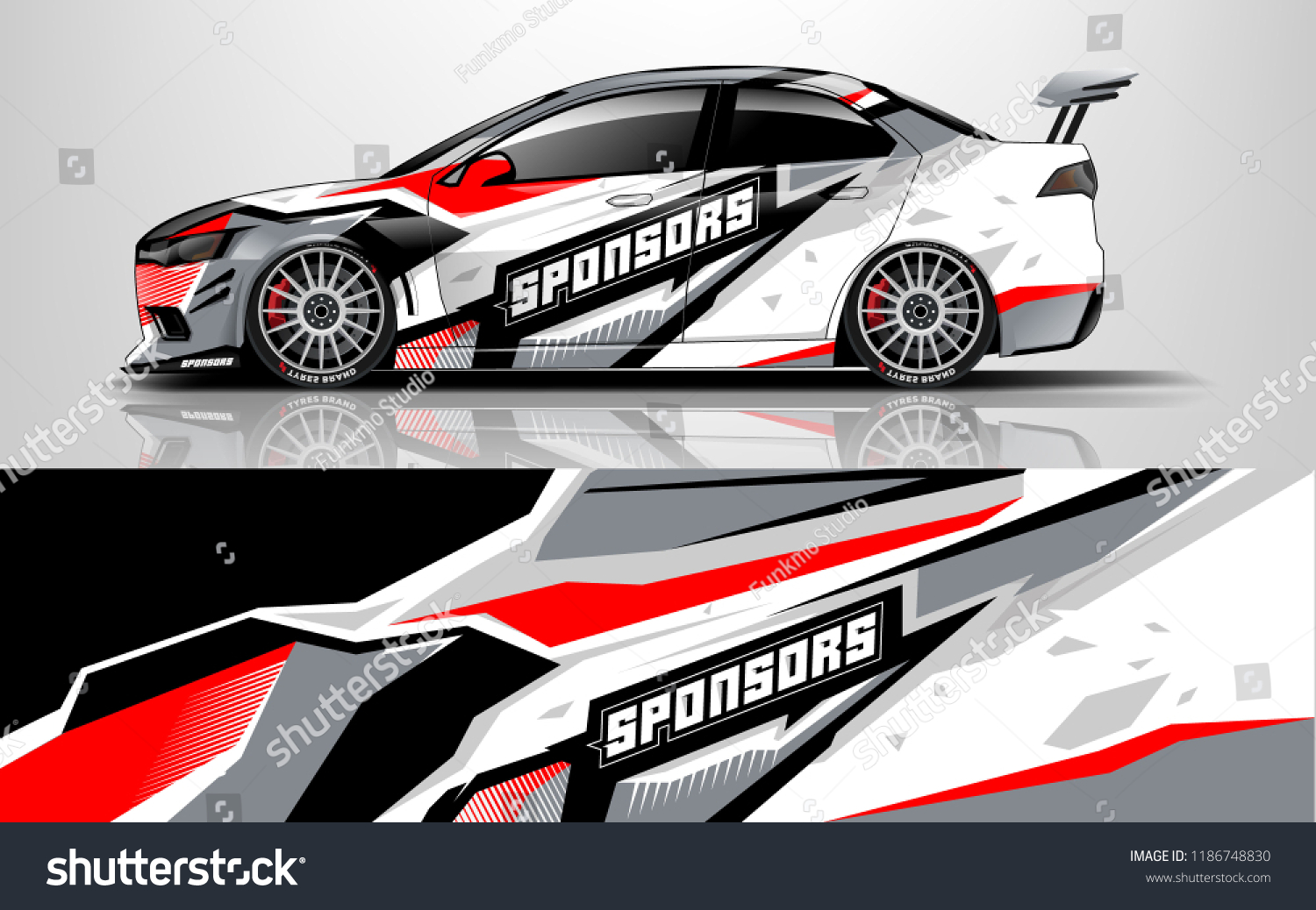 Design Race Vehicle Vector Advertising Design Stock Vector Royalty