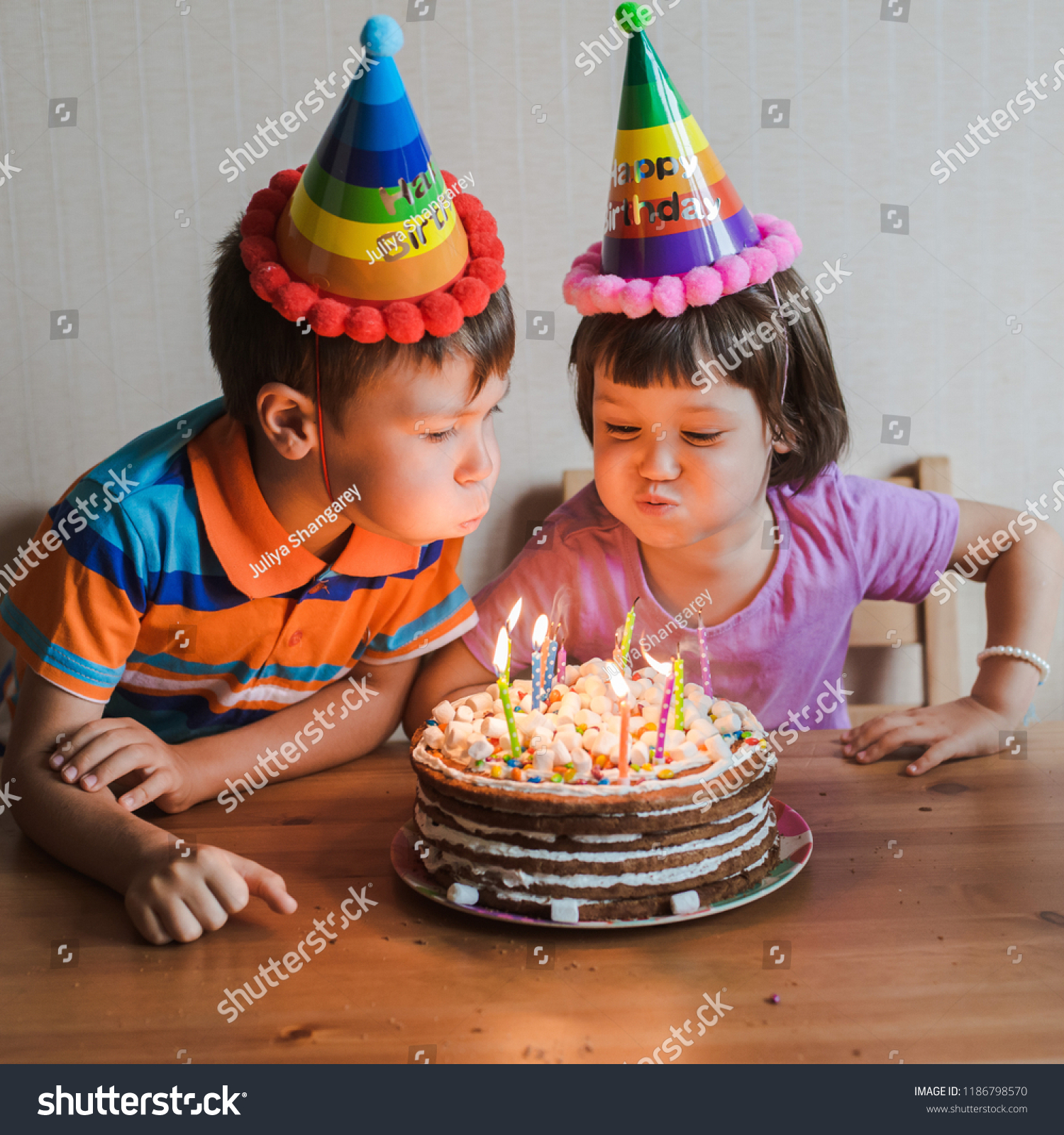 Strange Brother Sister Eating Birthday Cake Candles Stock Photo Edit Now Funny Birthday Cards Online Inifofree Goldxyz