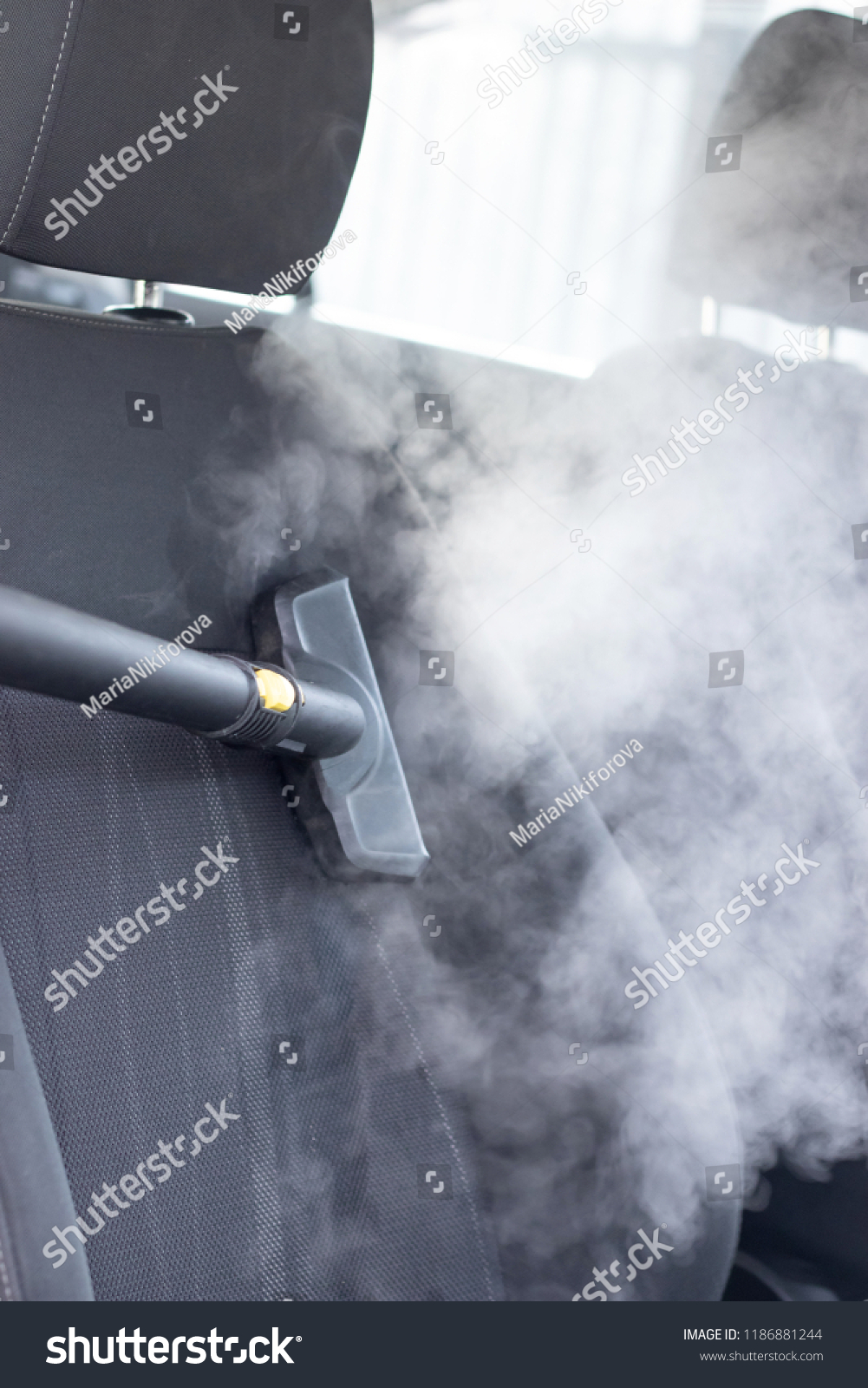 Steam Clean Car Interior >> Vertical Shot Steam Cleaning Car Interior Stock Photo Edit