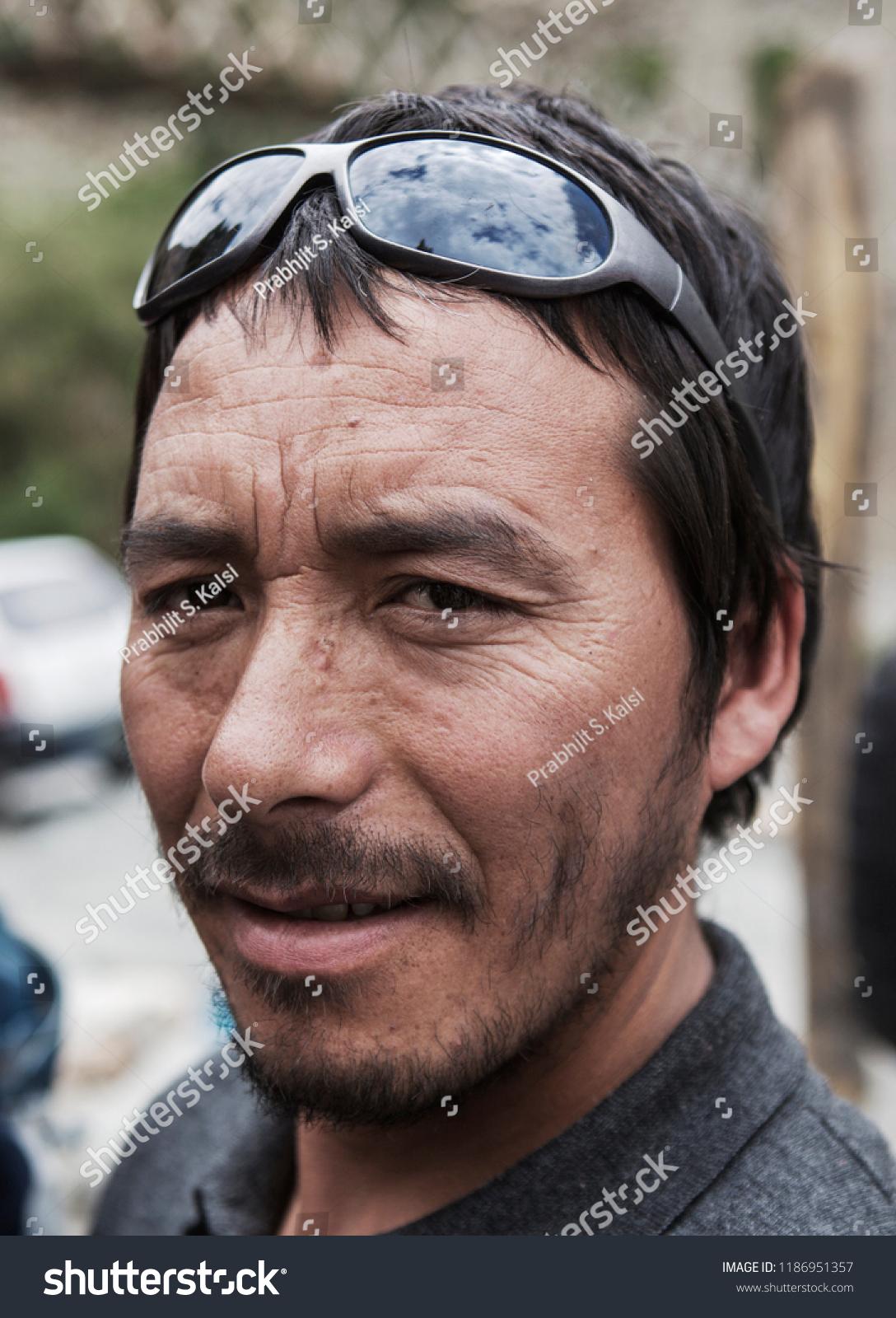 Portrait Unidentified Persons Turtuk Area Ladakh Stock Photo (Edit