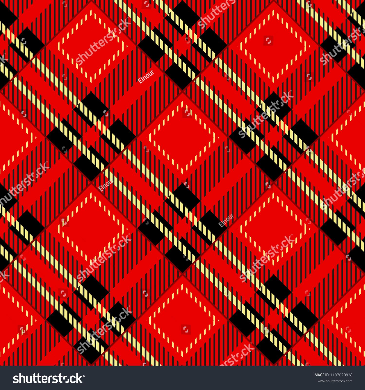 Tartanplaid Pattern Vector Background Fashion Illustrationvector Stock Vector Royalty Free 1187020828