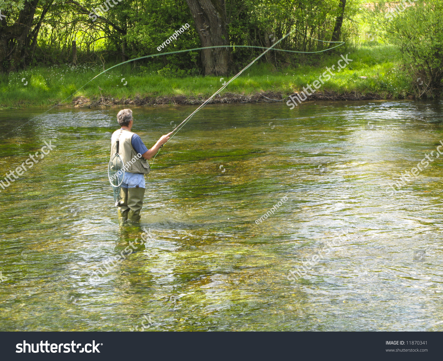 Fly fishing on ribnik river stock photo 11870341 for Fly fishing photography