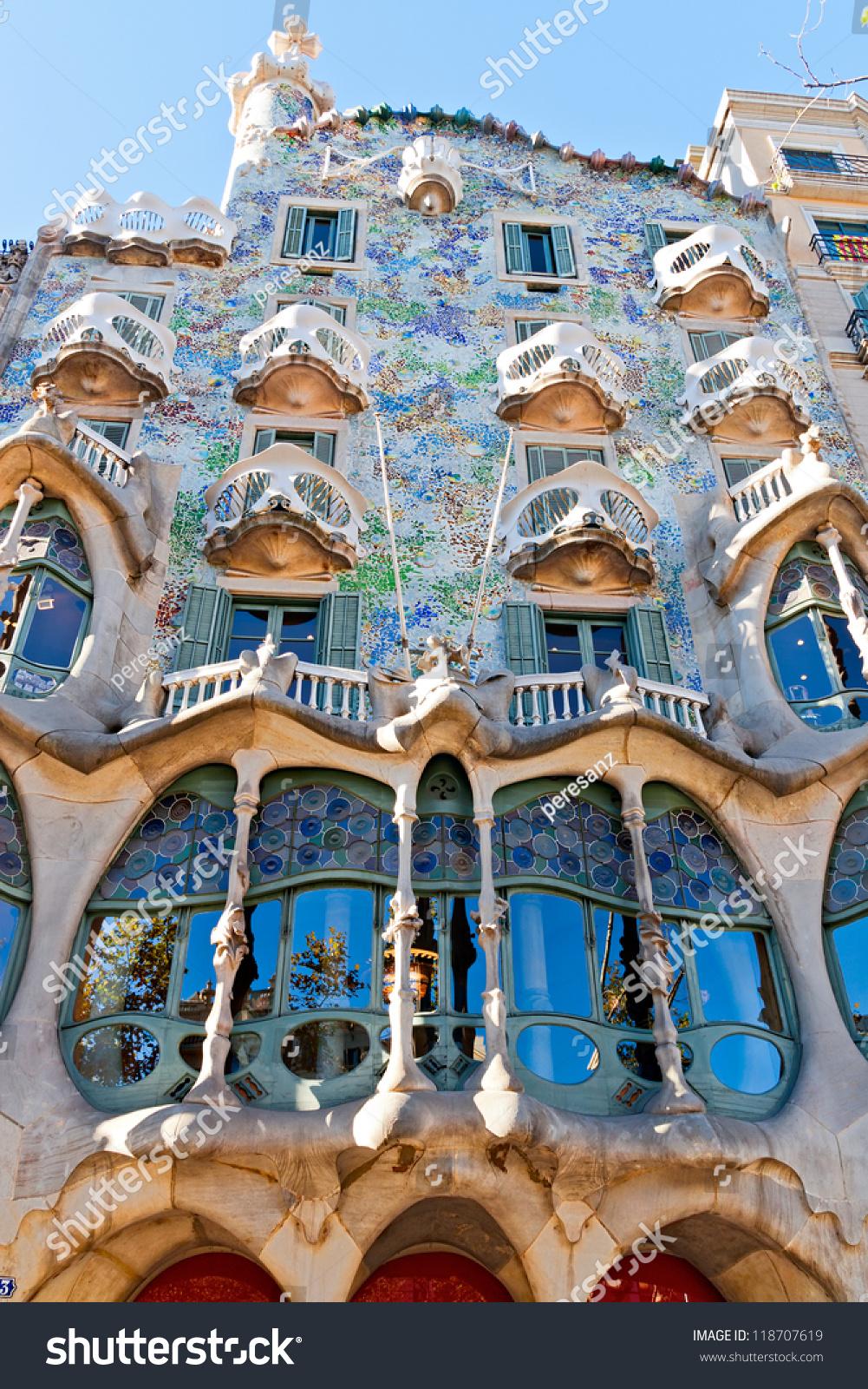 Barcelona Spain November 11 Casa Batllo Stock Photo