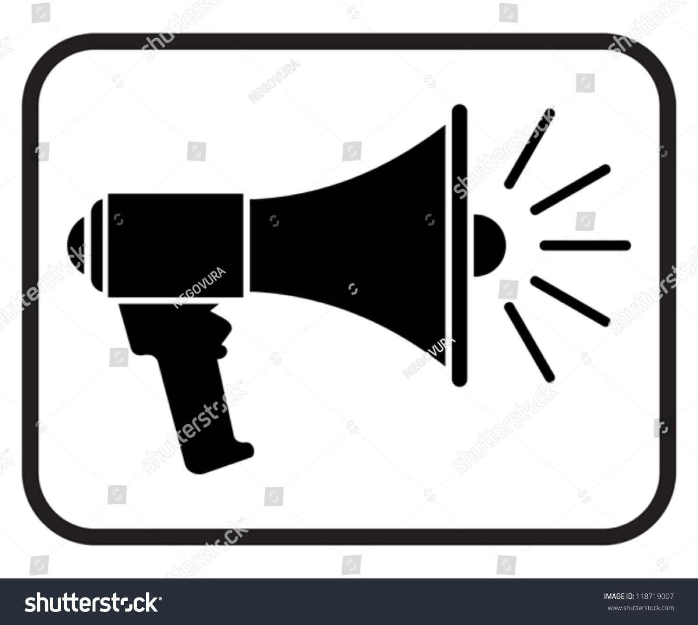 Megaphone Icon Loudspeaker Icon Stock Vector 118719007 - Shutterstock