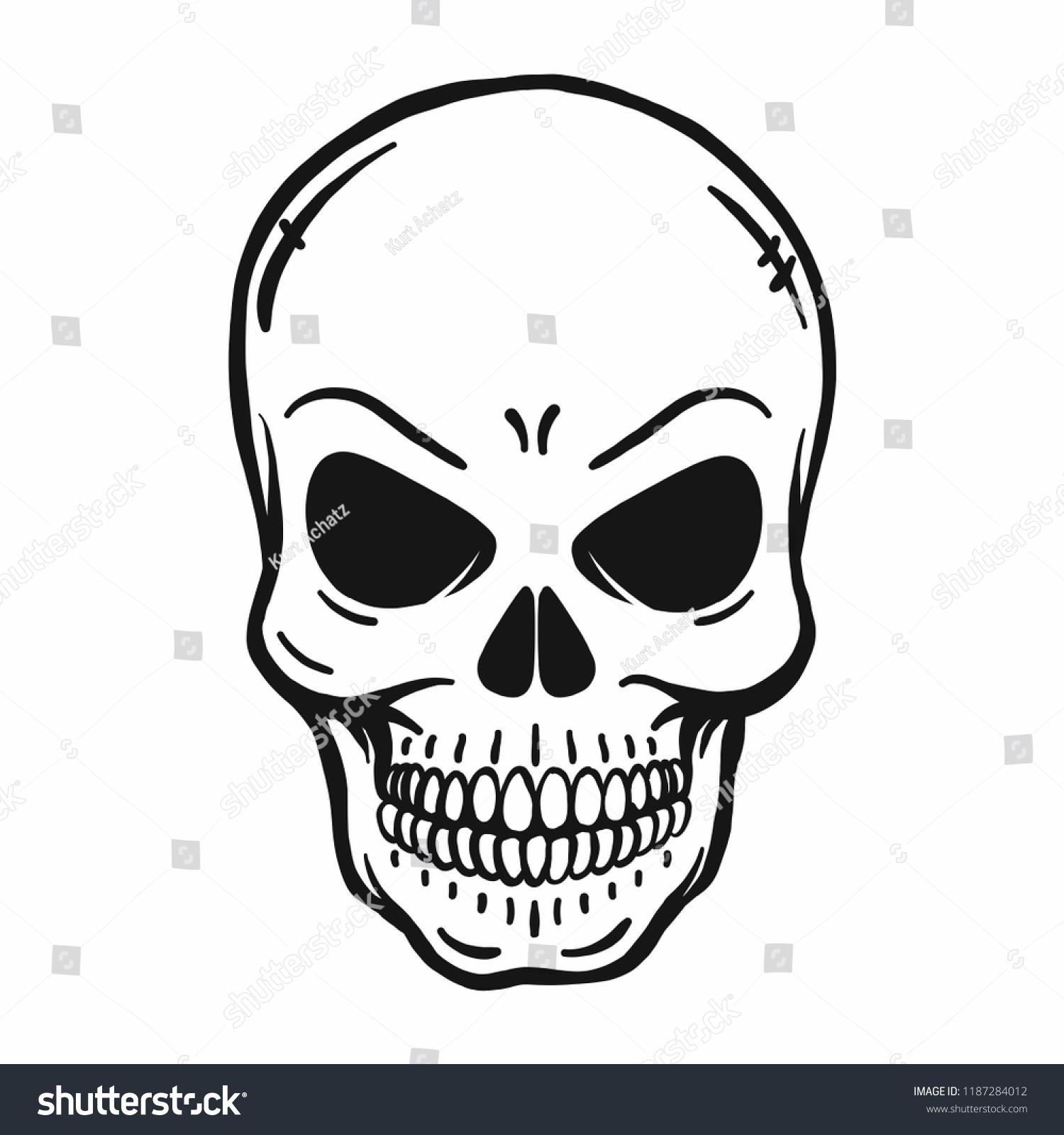 Skull Outline Vector Images Stock Photos Vectors Shutterstock