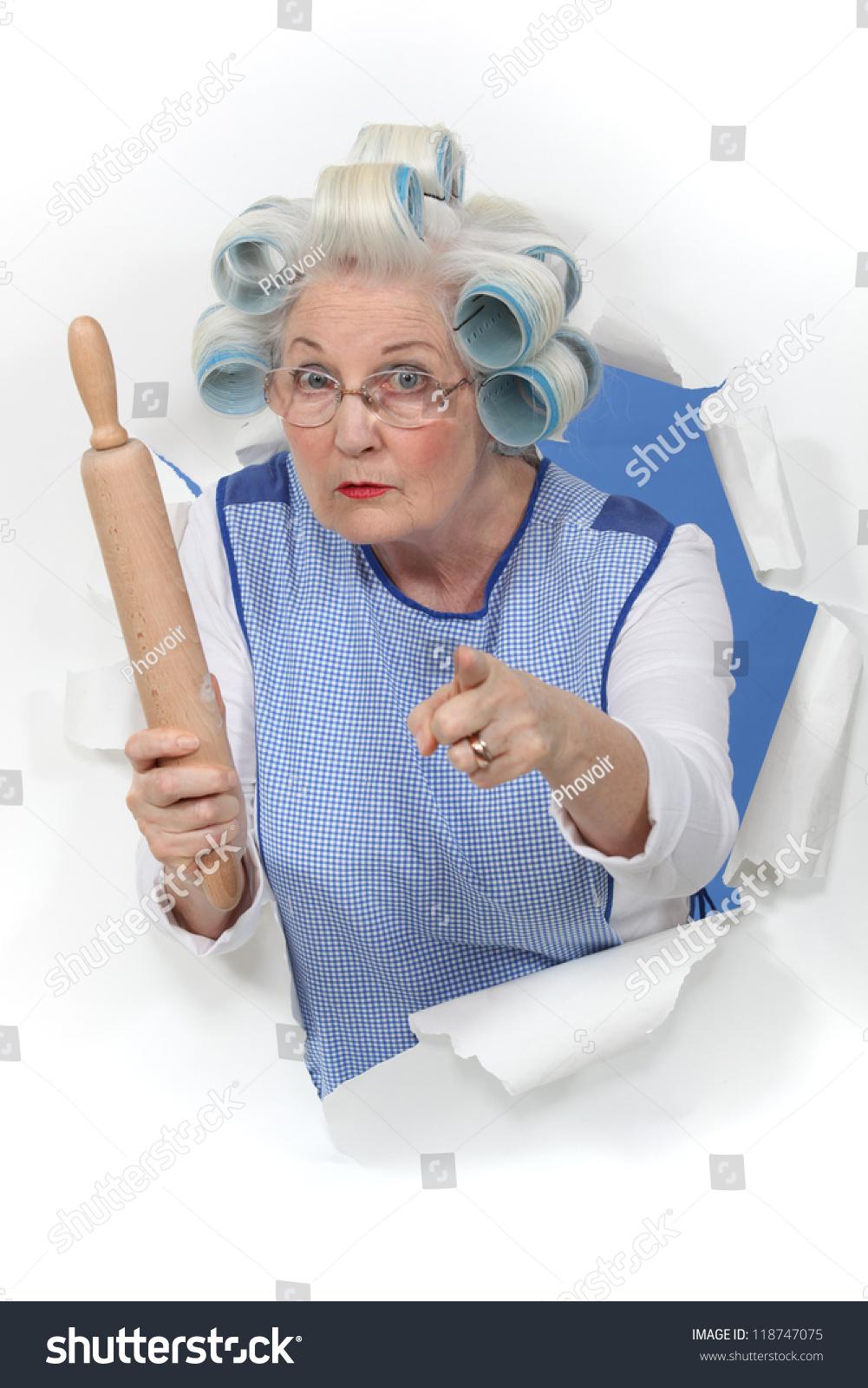 Тётка в халате 14 фотография