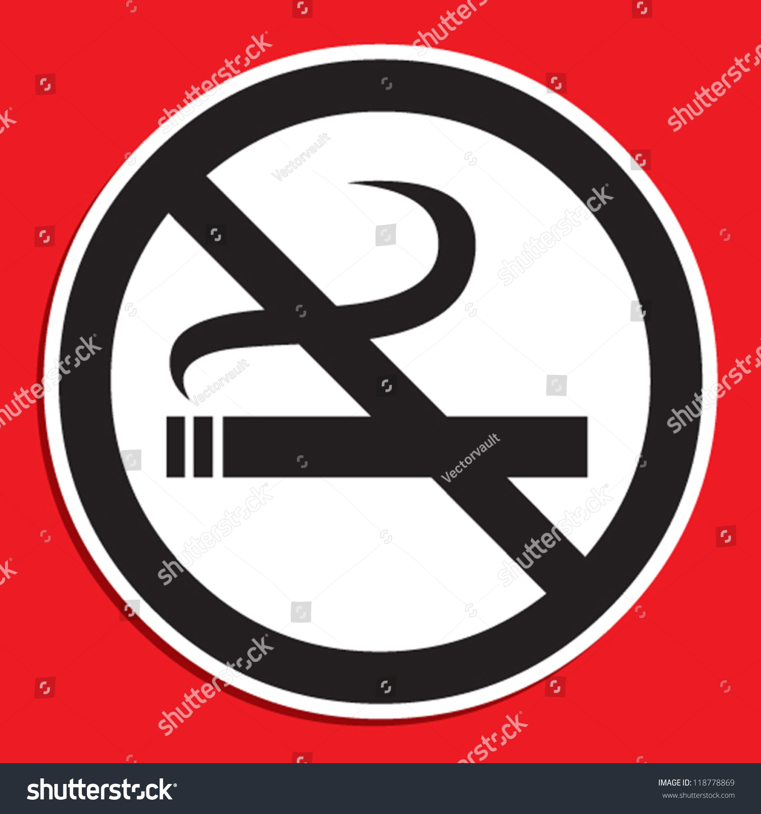 No smoking symbol stock vector 118778869 shutterstock no smoking symbol buycottarizona Images