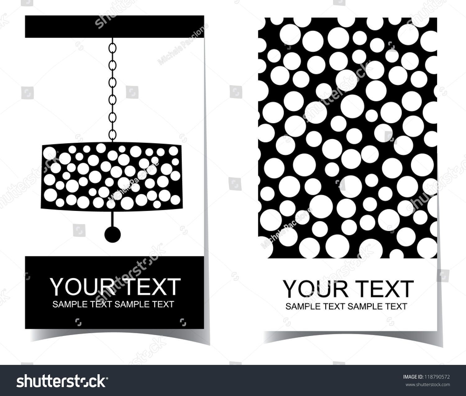 Chandelier Interior Design Business Card Set Stock Vector ...