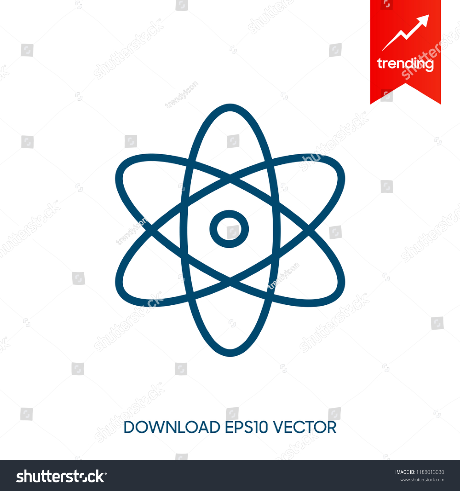 React Native Vector Icons On White Stock Vector (Royalty