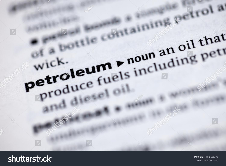 close dictionary definition petroleum stock photo (edit now