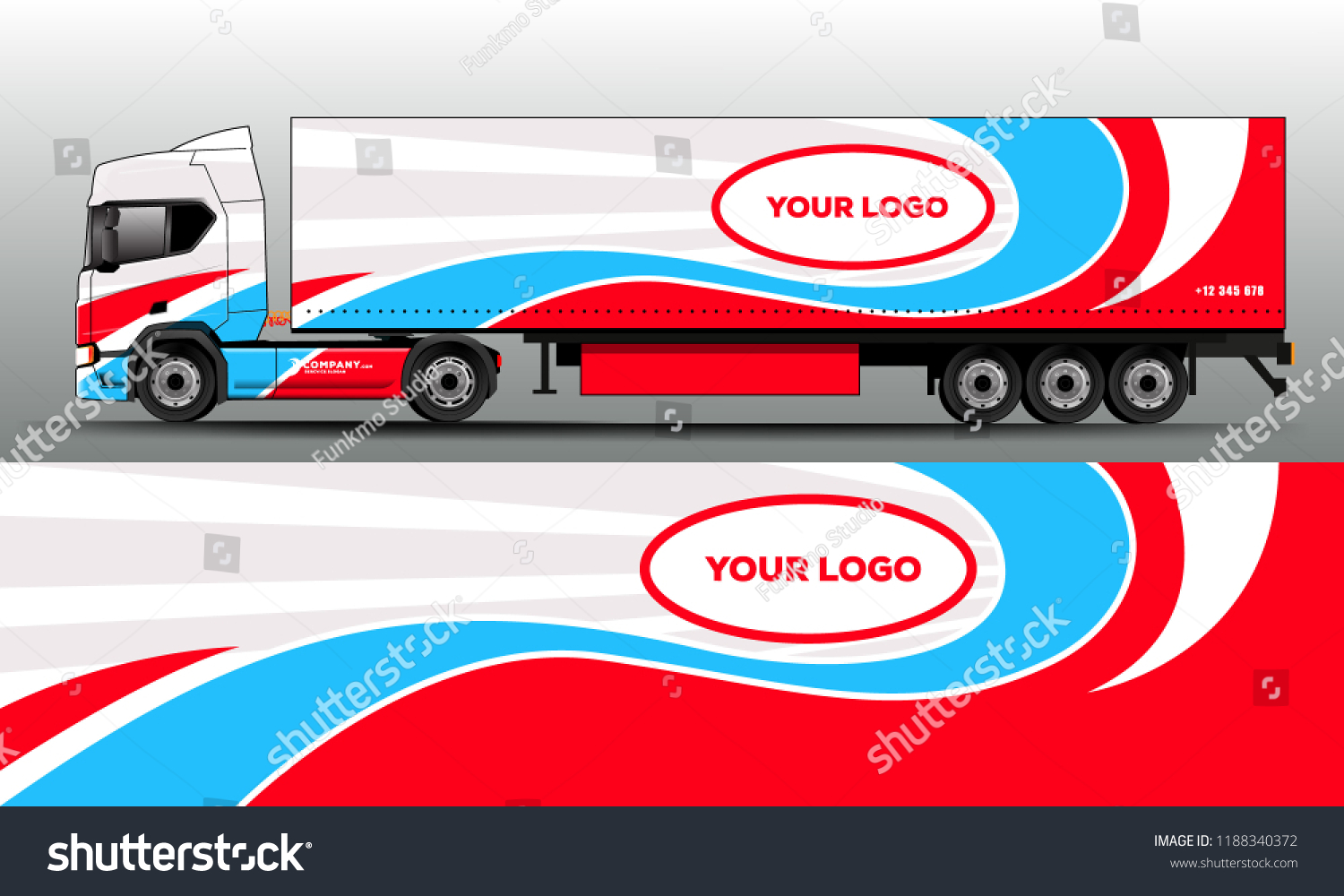 Truck car wrap for company sticker wrap and sticker design in vector eps10
