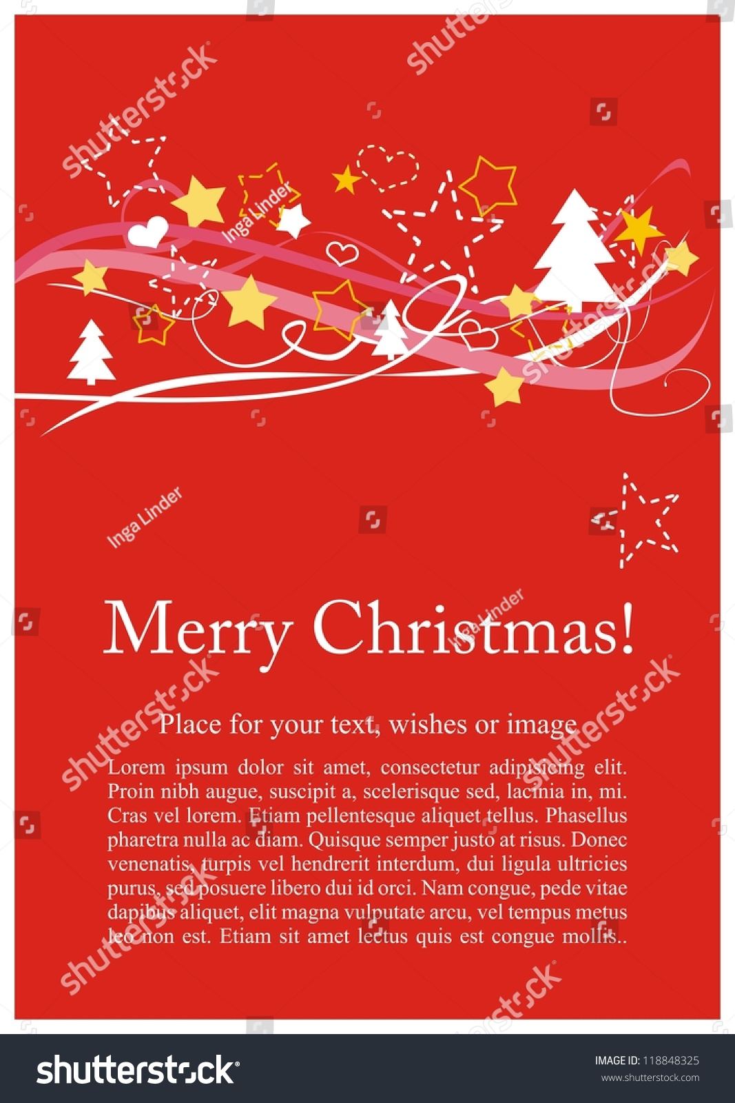 Christmas Card Invitation Party Merry Christmas Stock Illustration