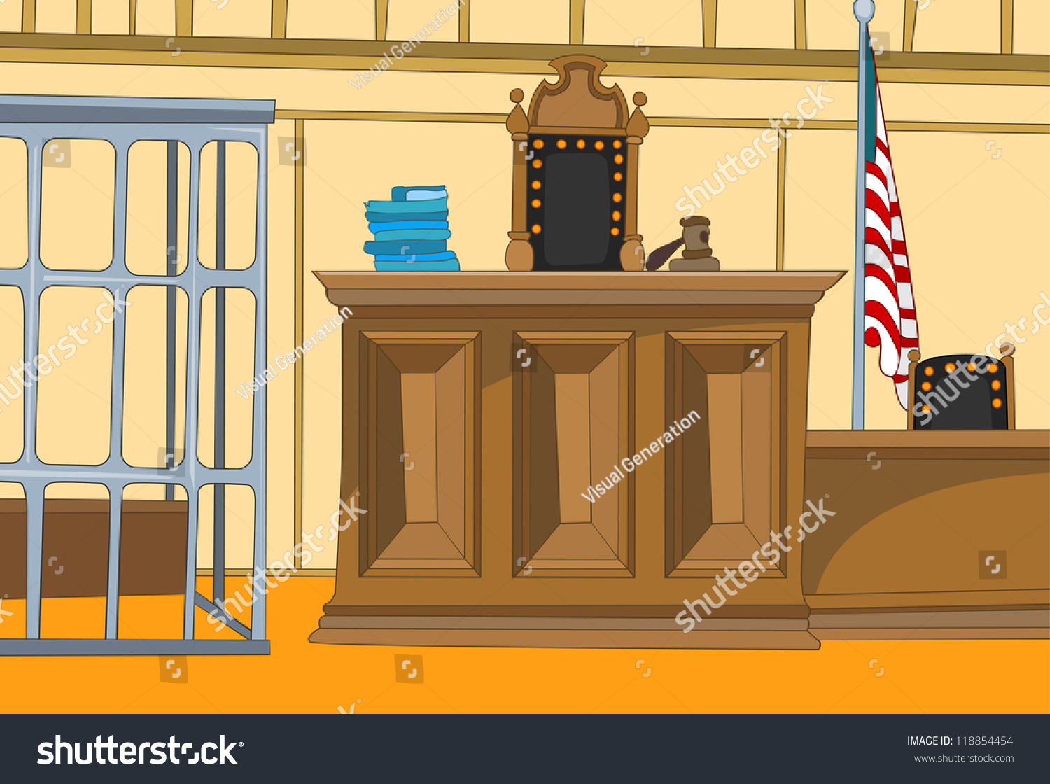 Law Court Cartoon Background Vector Illustration Stock ...