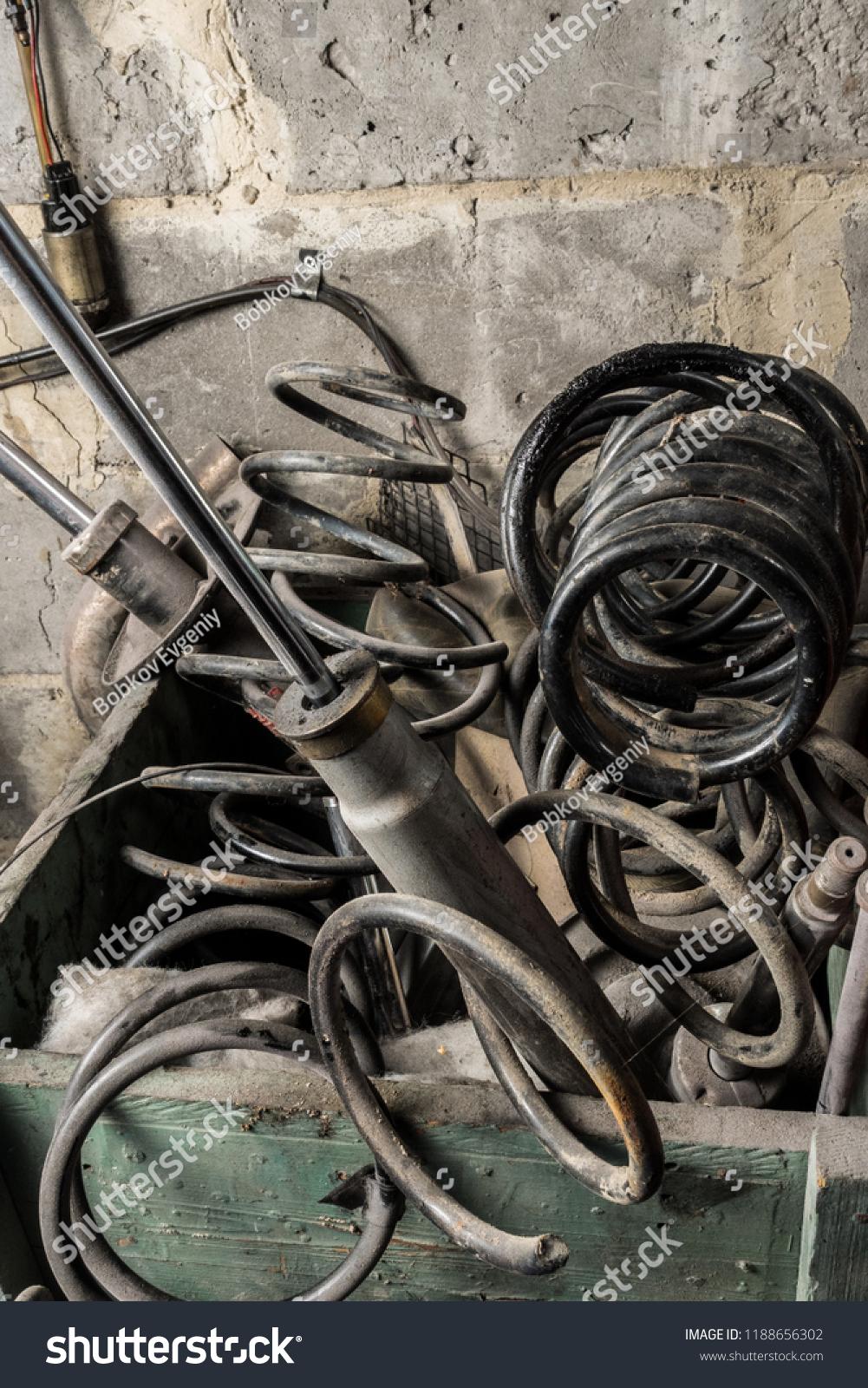 Metal Waste Scrap Old Car Parts Stock Photo Edit Now 1188656302