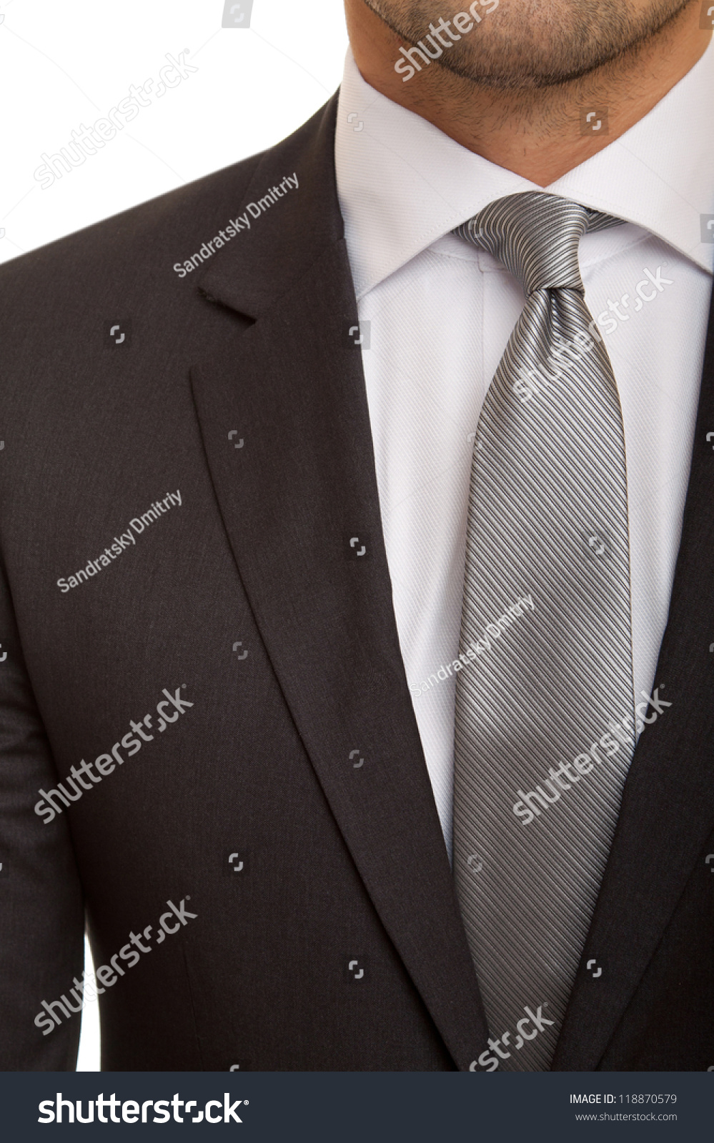 Black Suit Grey Tie Stock Photo 118870579 - Shutterstock