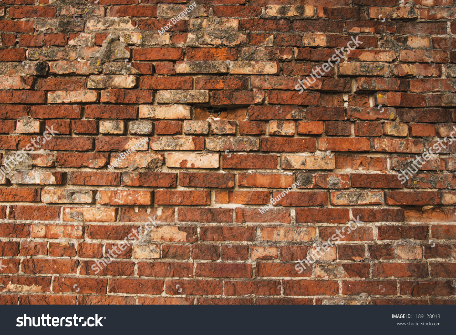 Nice Red Brick Wall Texture Grunge Stock Photo Edit Now 1189128013