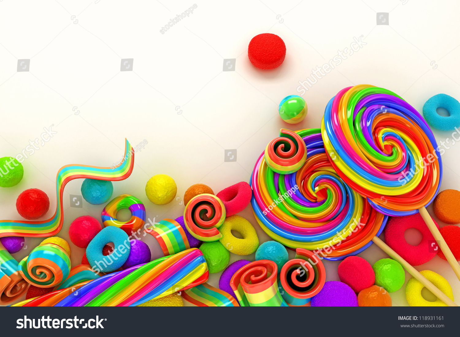 Illustration Colorful Candy Wallpaper Stock Illustration 118931161