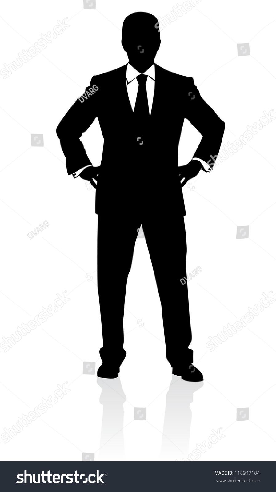 raster version business man suit tie stock illustration