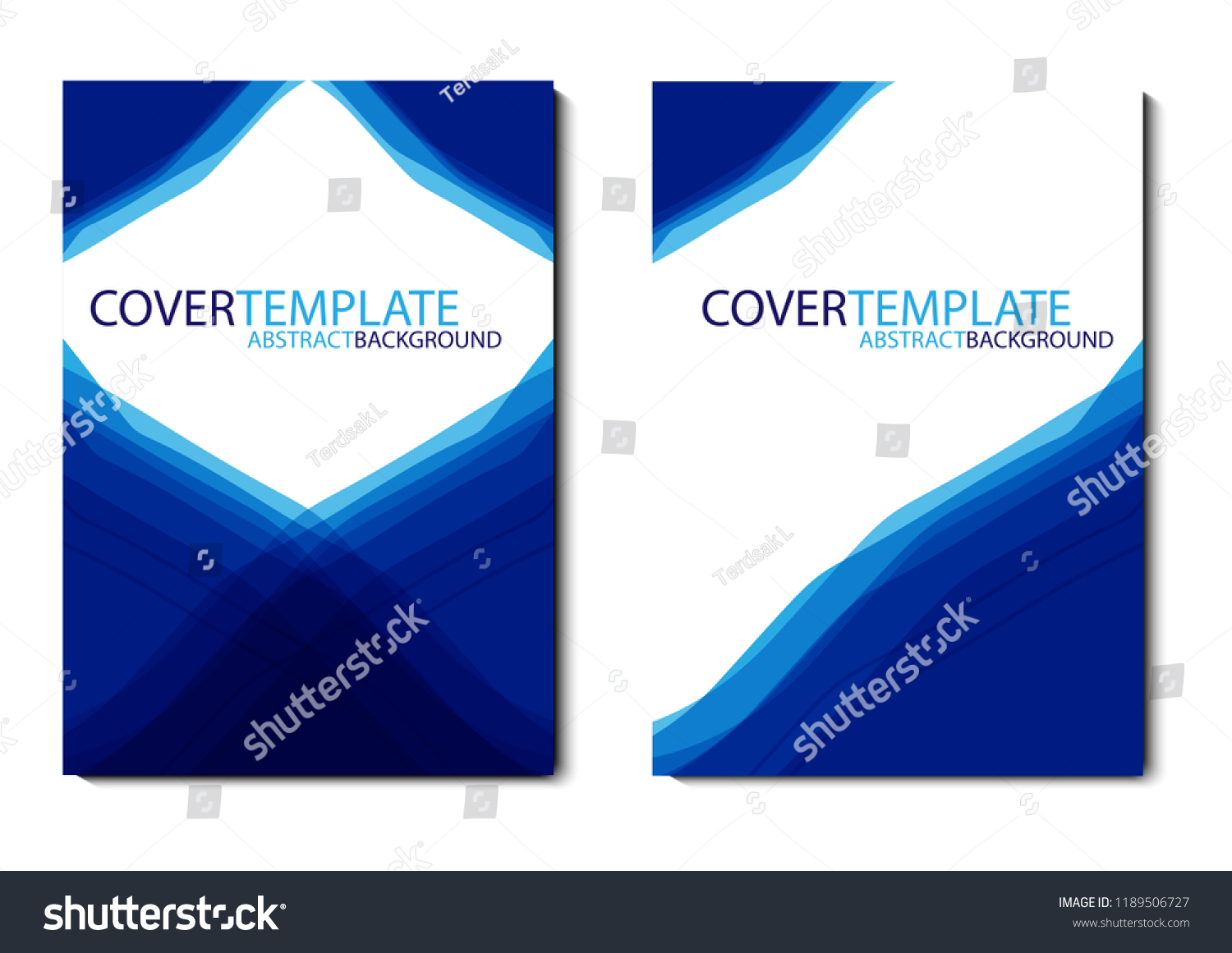 vector design cover report annual flyer stock vector royalty free