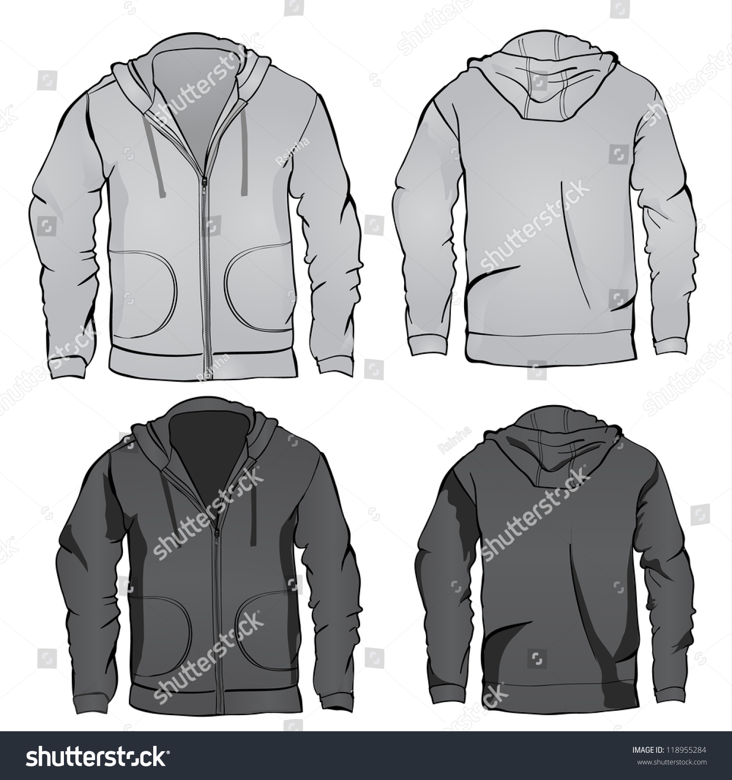 Black Jacket Template - Coat Nj