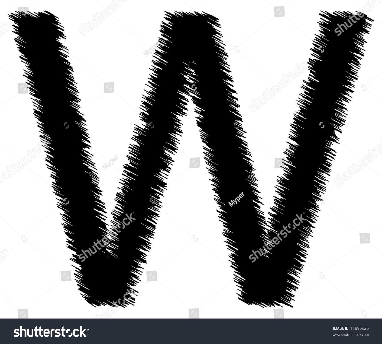 Scribble Style Alphabet Single Letter Stock Illustration 11895925