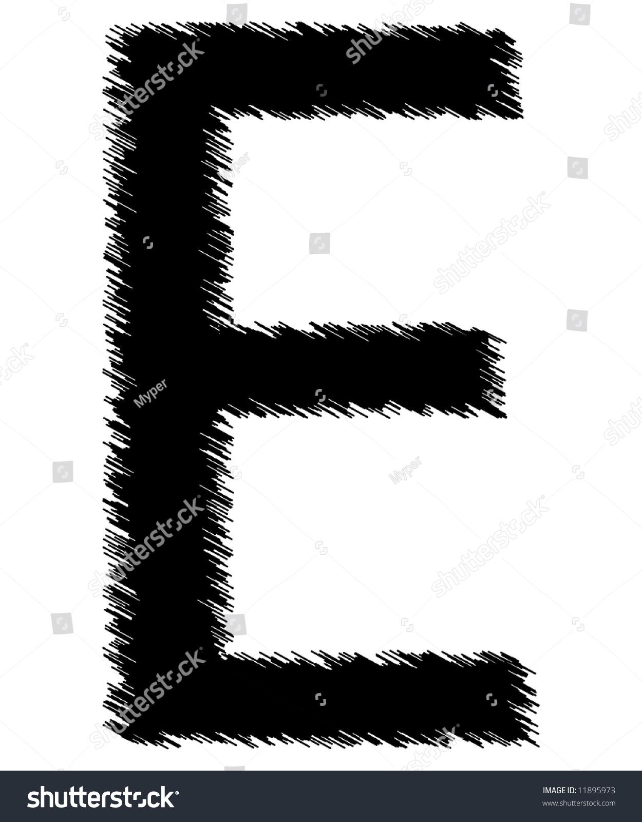 Scribble Style Alphabet Single Letter Stock Illustration 11895973