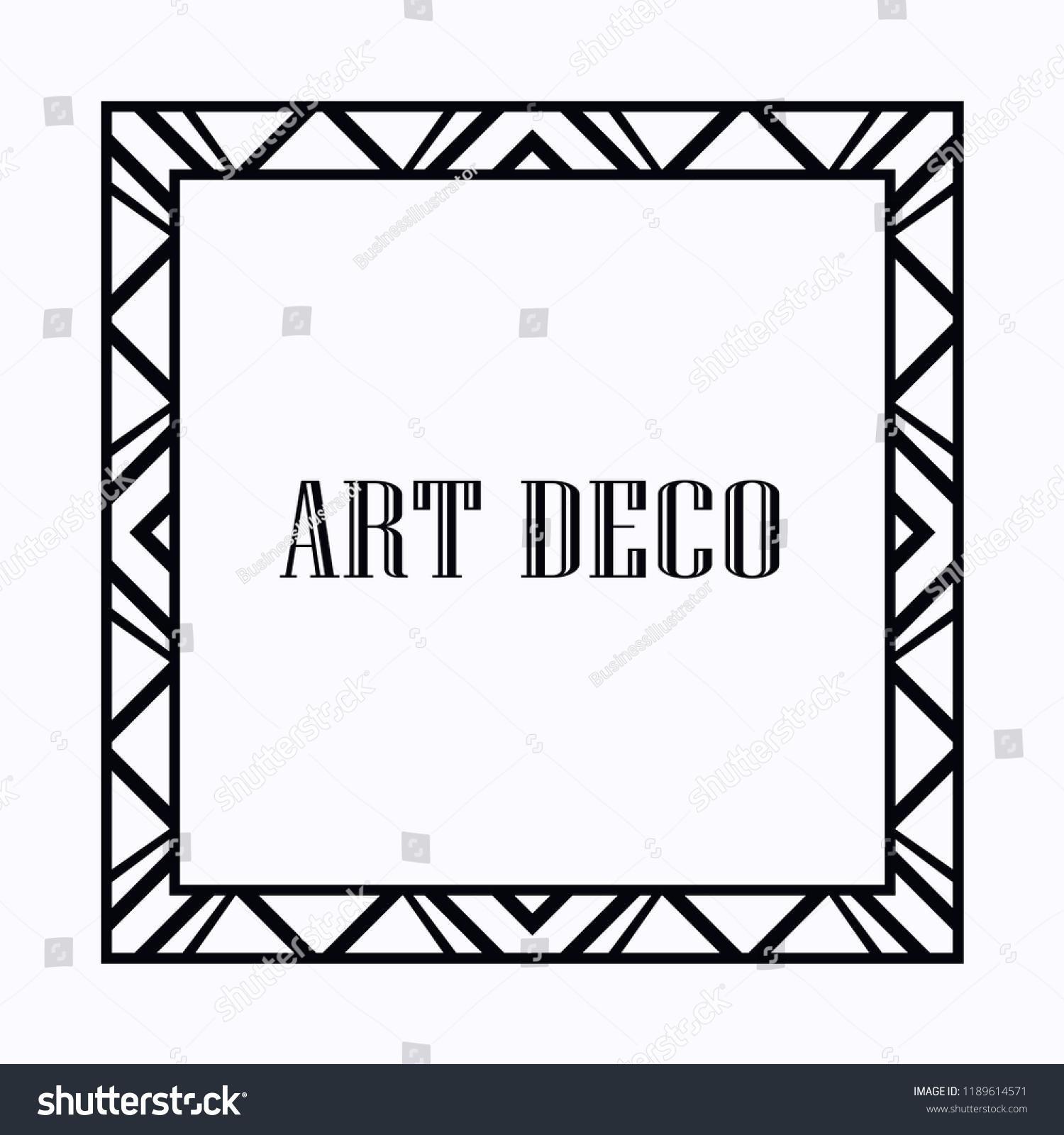 vintage retro style invitation art deco stock vector royalty free
