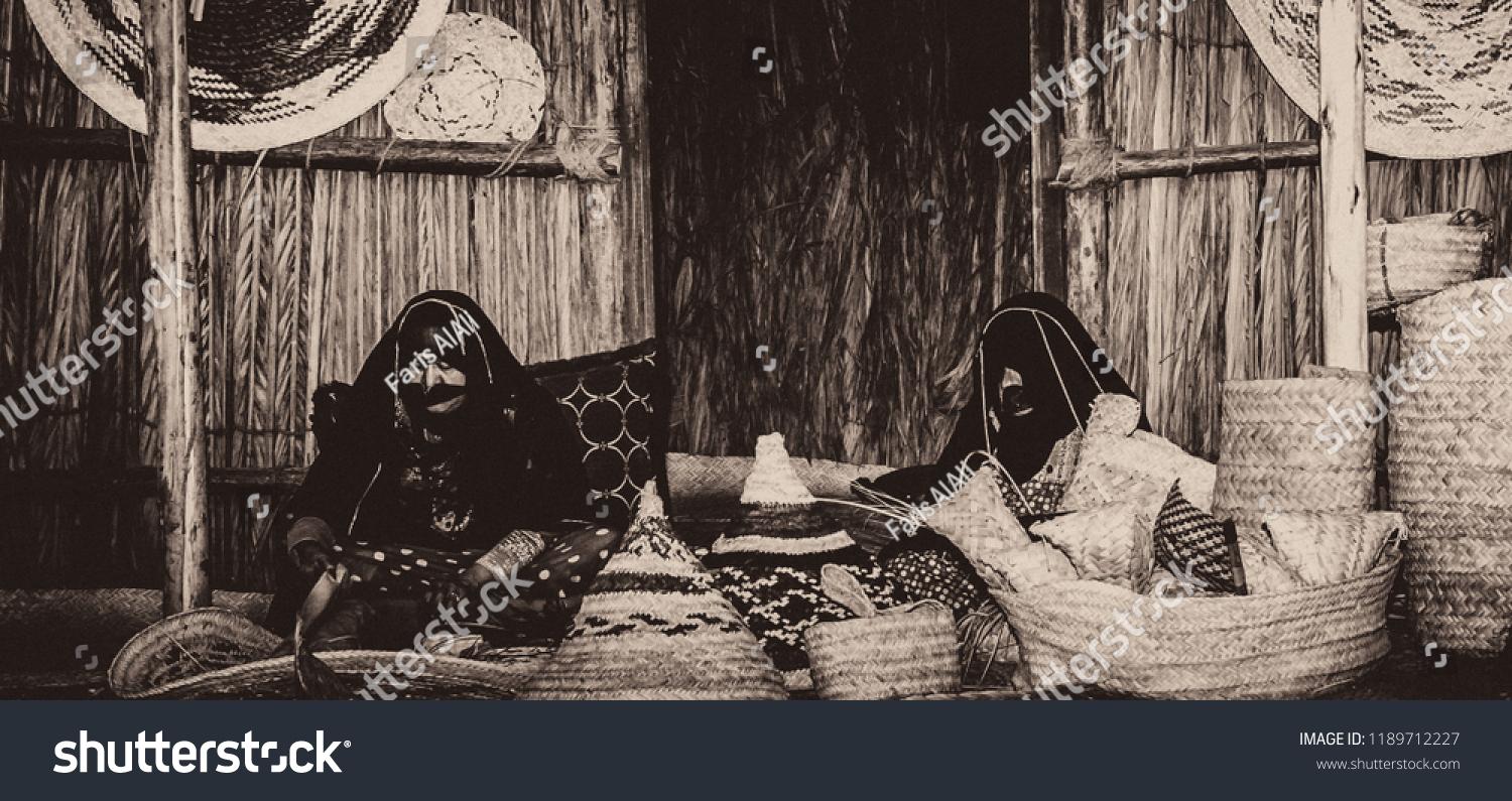 Pre Renaissance Era Women Uae Worked Handicrafts Stock Photo Edit