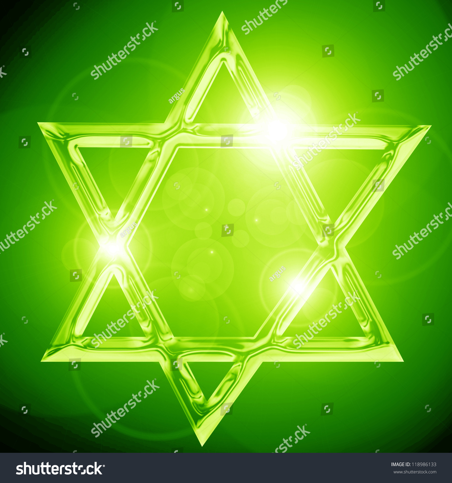 Star David Representing Jewish Religious Symbol Stock Illustration