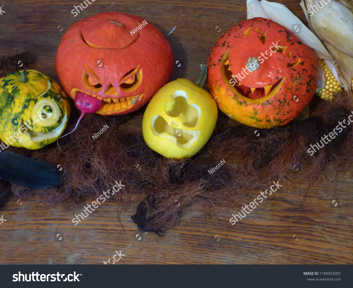 Halloween 2020 Funnyscene Halloween Background Rustic Style Blank Space Stock Photo (Edit