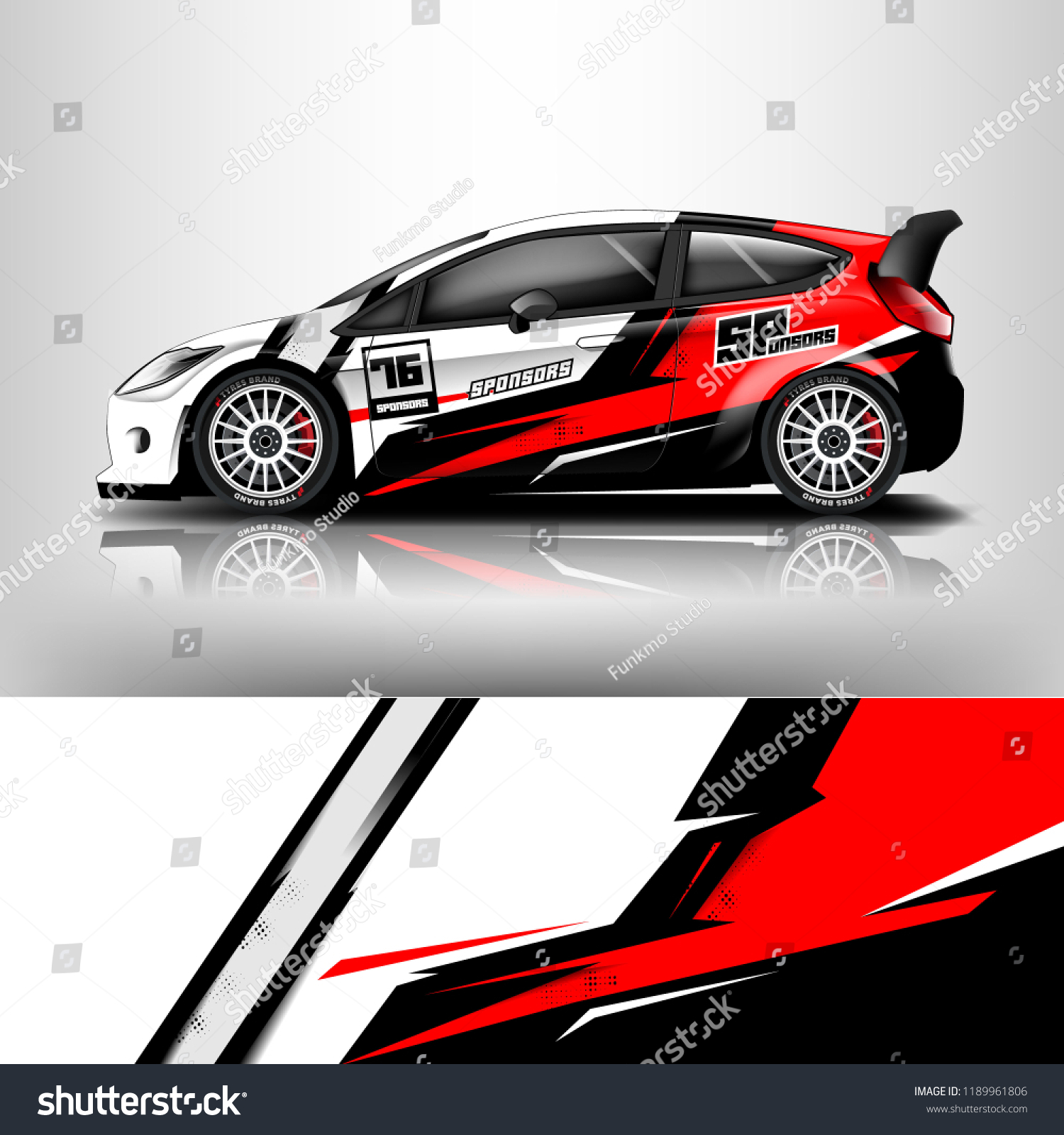 Car wrap design racing car wrap vinyl sticker graphic abstract stripe designs for branding and racing car