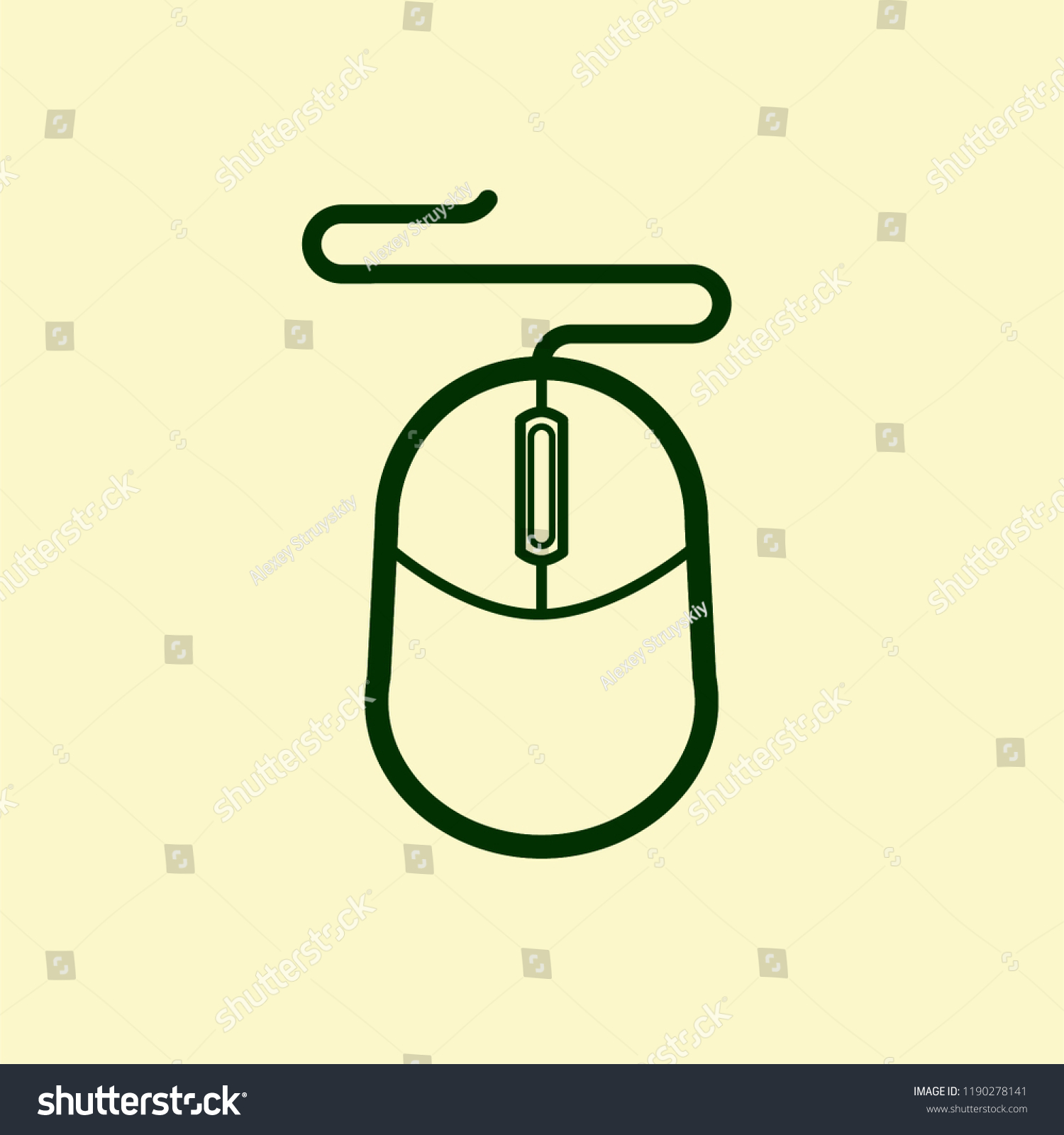 vector icon computer mouse cable on stock vector royalty vector icon computer mouse cable on beige background black contour transparency pc mouse scroll