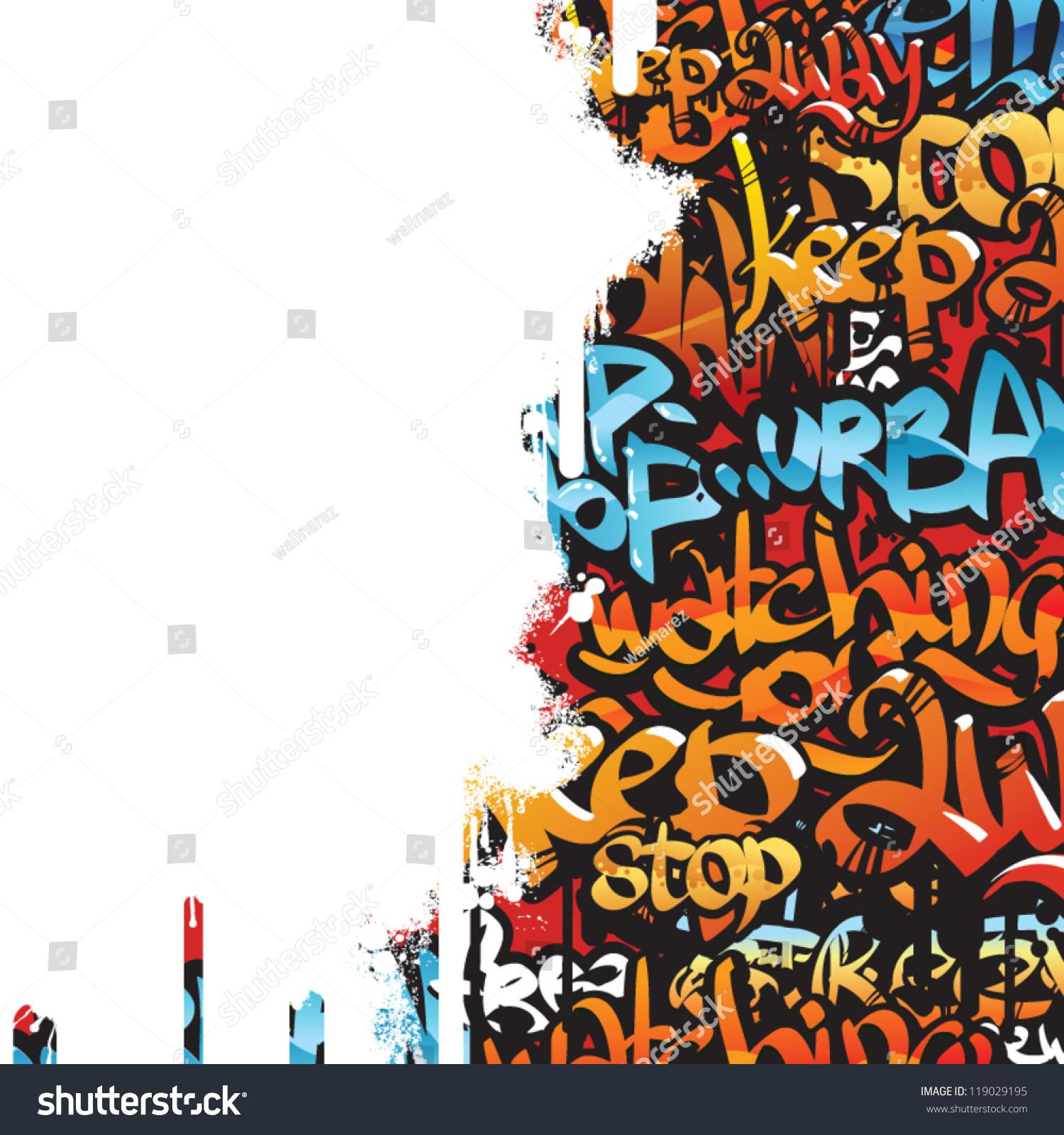Graffiti Vector Background Design Simple Text Stock Vektorgrafik