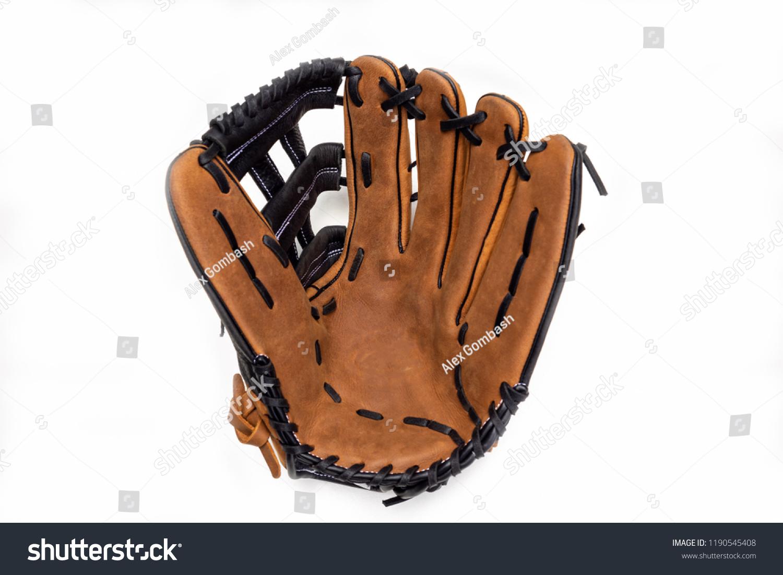 Baseball glove on white background opened up. #1190545408