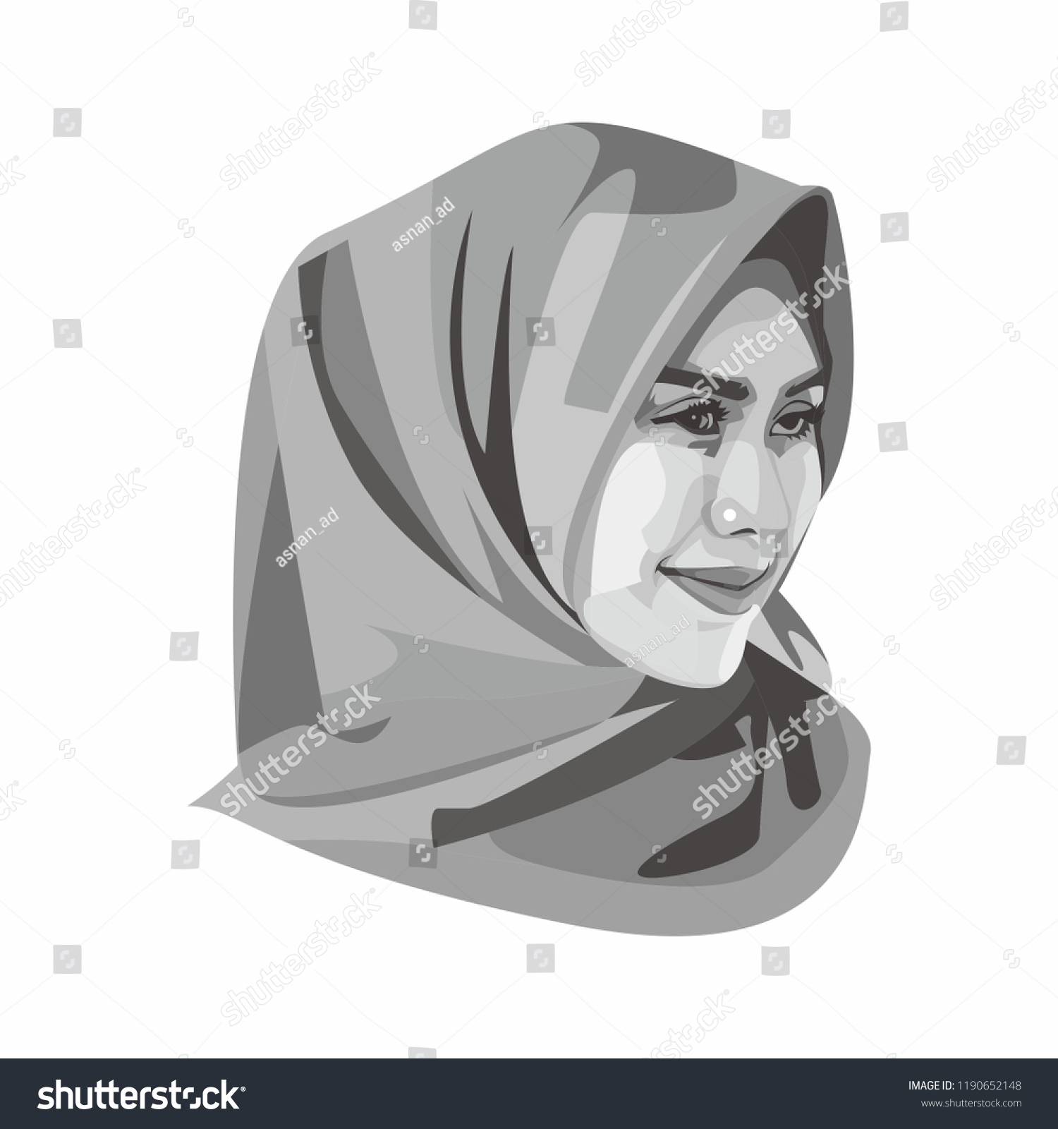 Central java sept 27 2018 beautiful hijab girl vector illustration