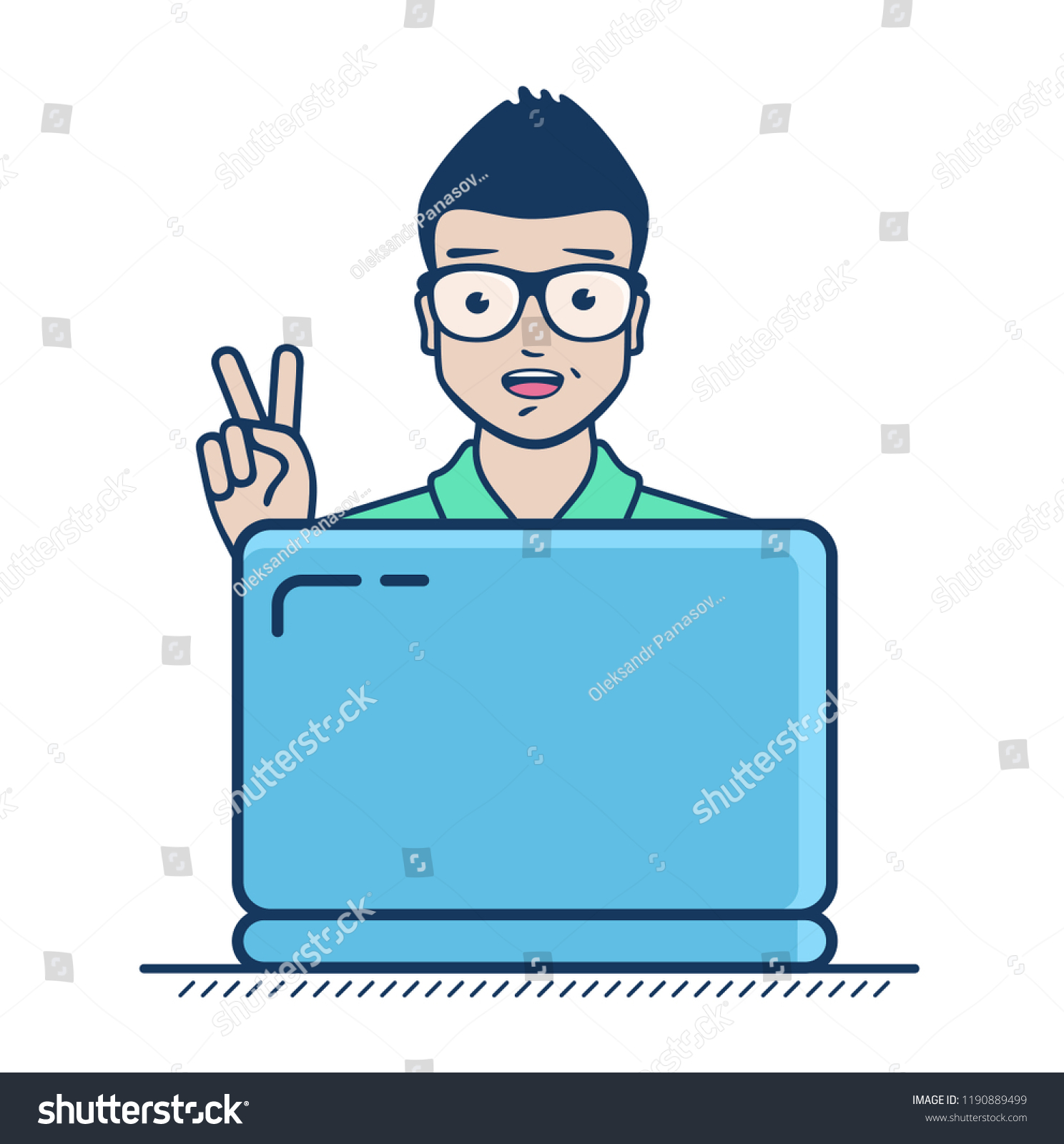 Succesful Freelancer Have Found Clients New Stock Vector