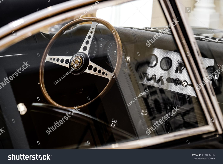 Vintage Car Interior Driver Seat Jaguar Stock Photo Edit Now