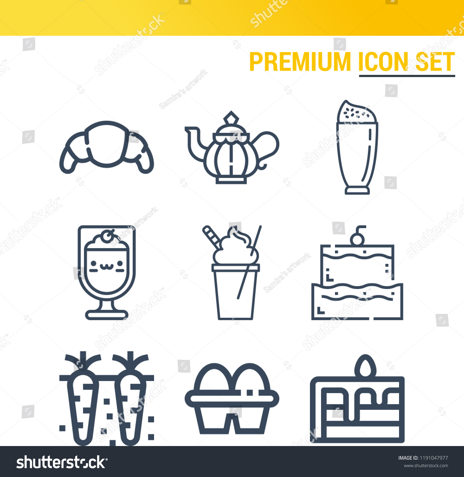 Royalty Free Stock Illustration Of Simple Set 9 Outline Icons On