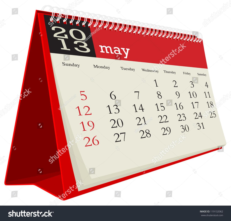 May Calendar Vector : May desk calendar stock vector shutterstock