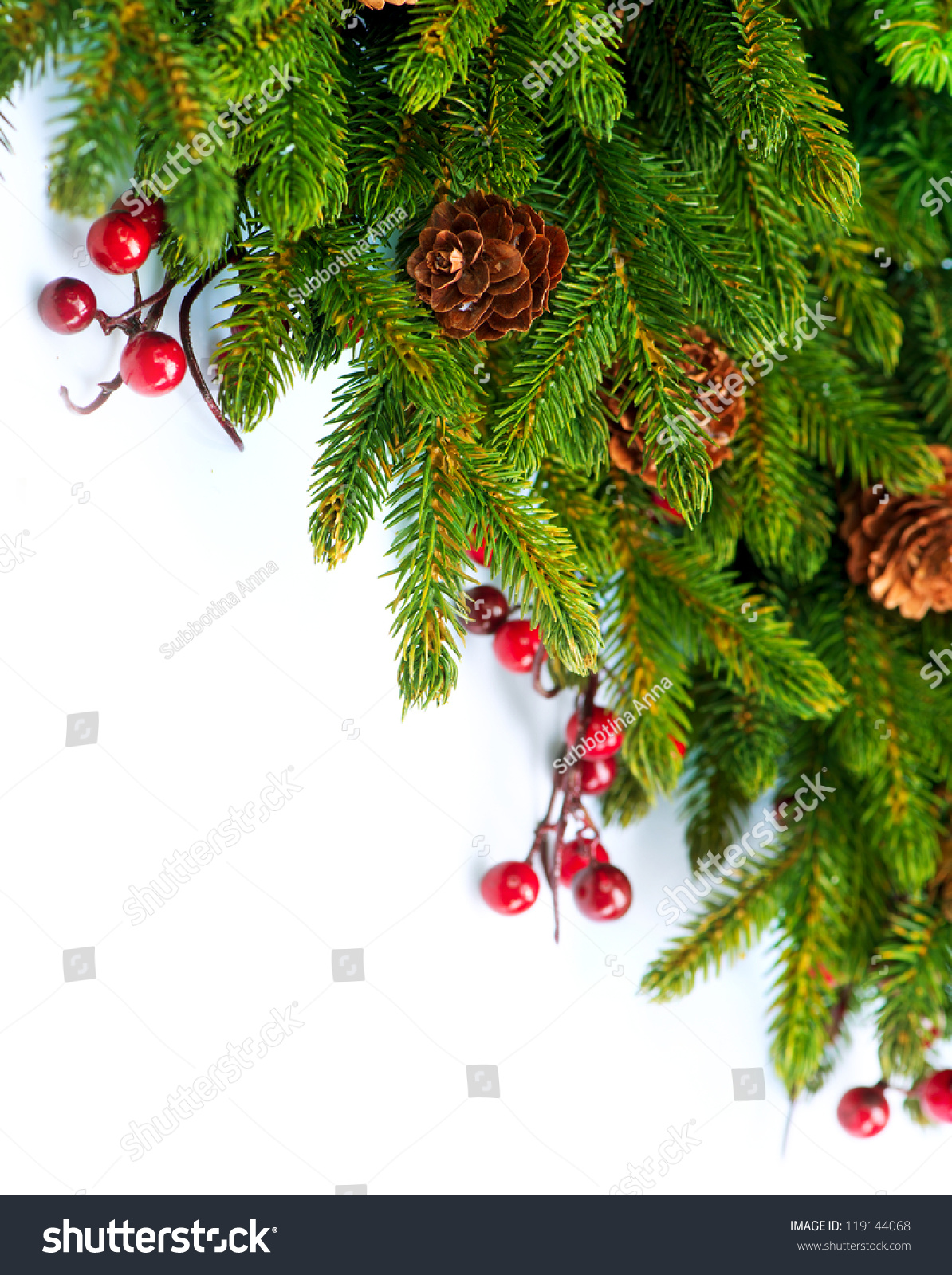 Christmas Tree Decoration Border Designevergreen Corner ...