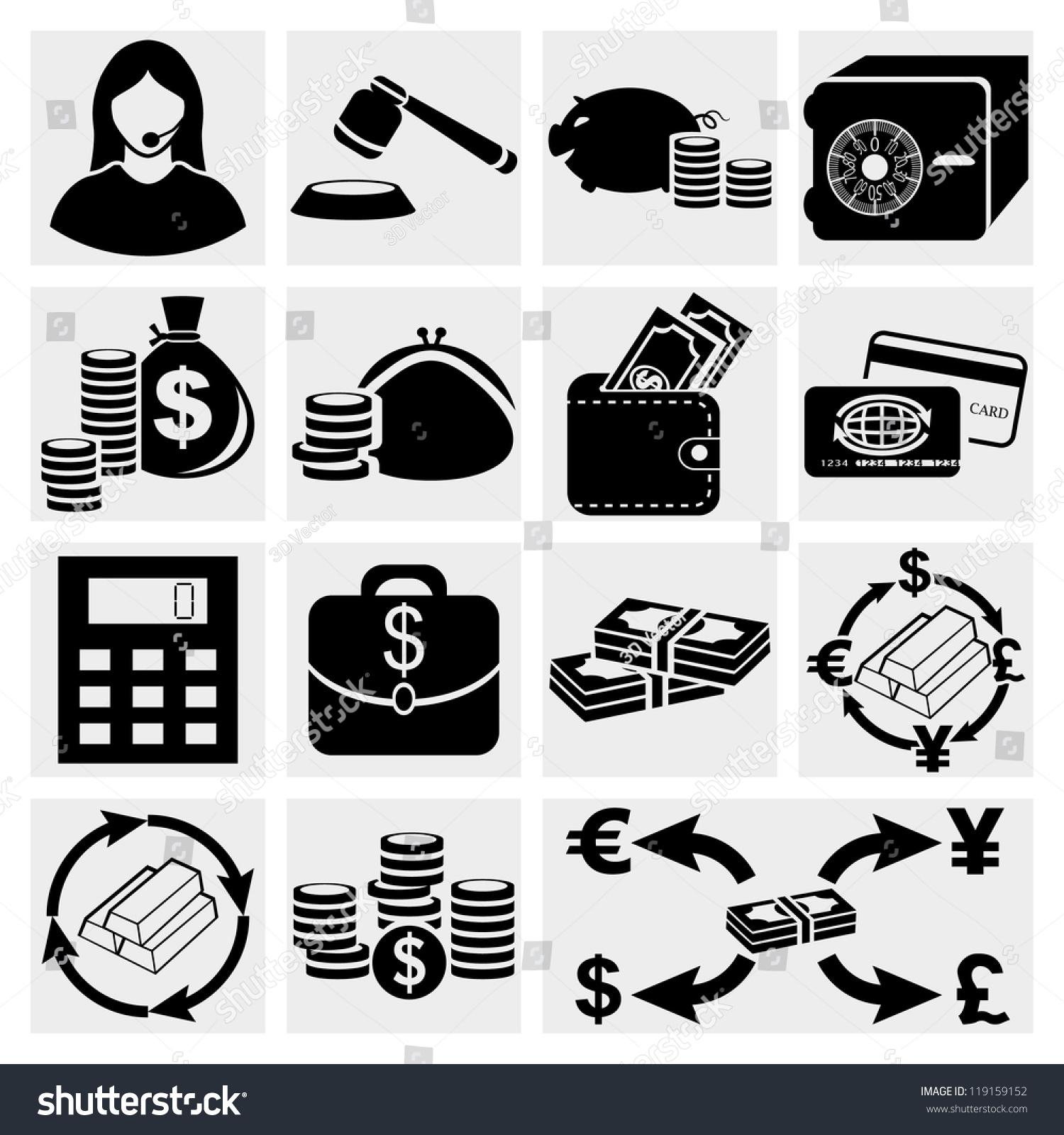 Finance Icon Set: Finance Icon Set.Money Icon Set, Vector