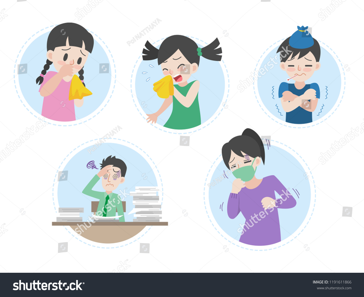 Feeling Cold Stock Vector Images - Alamy